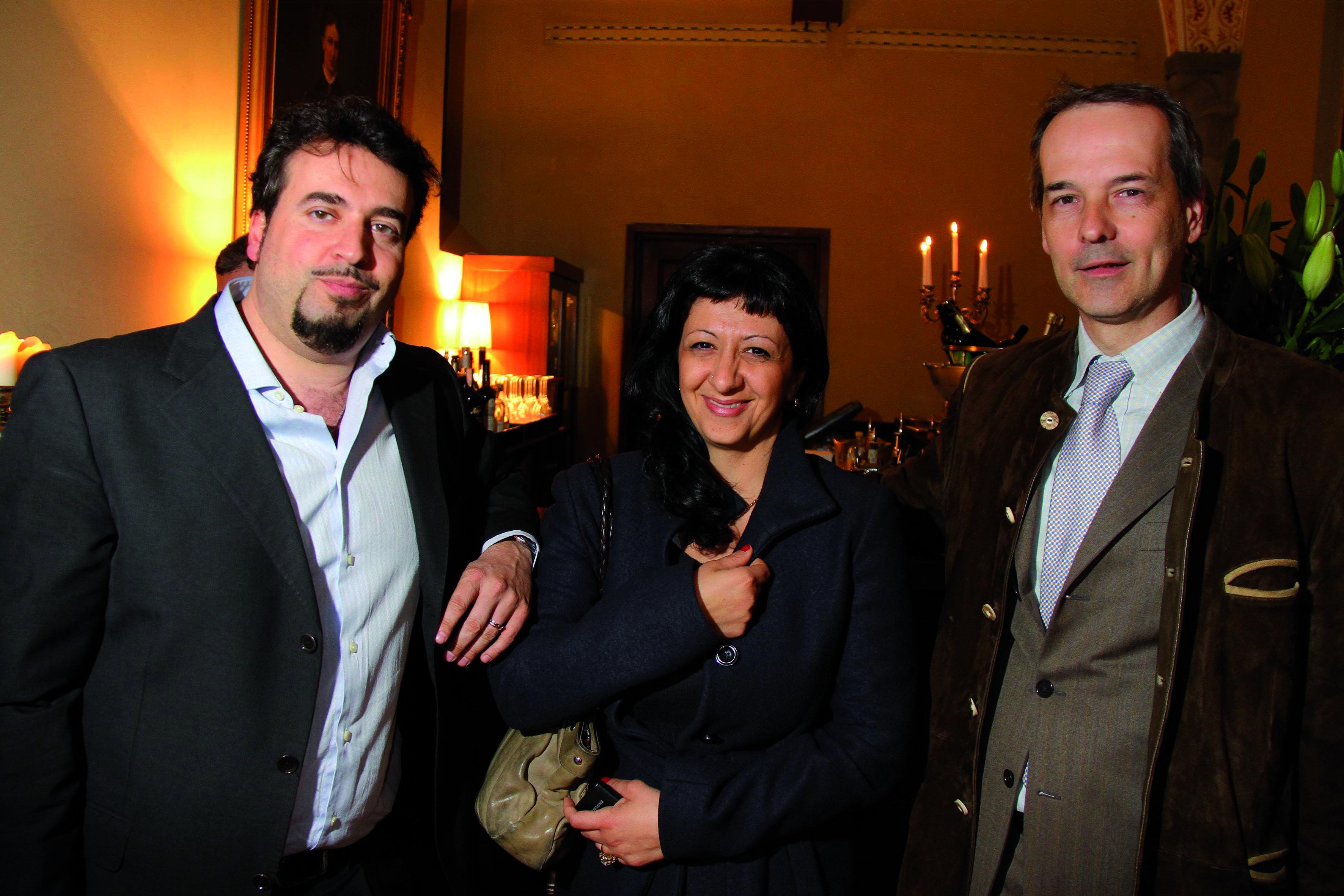 PRESSPHOTO Firenze Magazine;  evento Lexus all'Hotel Salviatino: Alessandra con Lorenzo Bartolini e Luca Gheriche