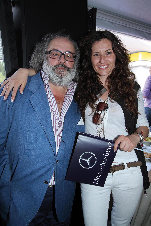 PRESSPHOTO. Firenze, Mille Miglia, stand Mercedes La Rotonda. Nella foto Stefano Ricci e Costanza Gregoratti