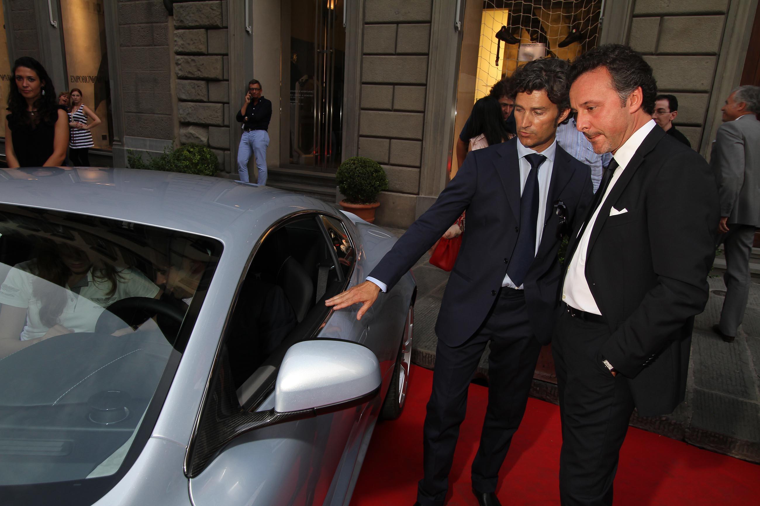 PRESSPHOTO Firenze, Evento Milord Aston Martin. Nella foto  Paolo Chiriconi e Mauro Von Arx