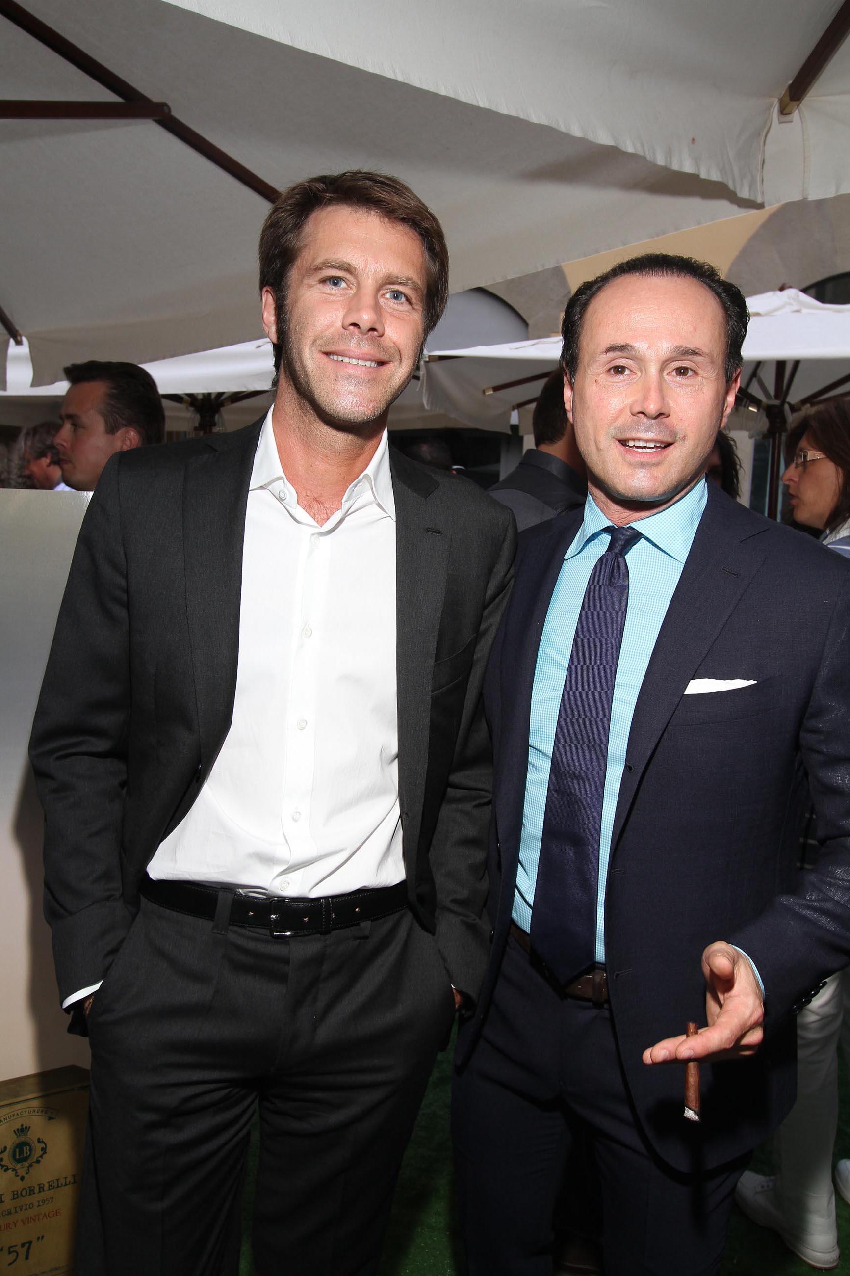 PRESSPHOTO Firenze, Evento Milord Aston Martin. Nella foto Emanuele Filiberto con Fabio Borrelli