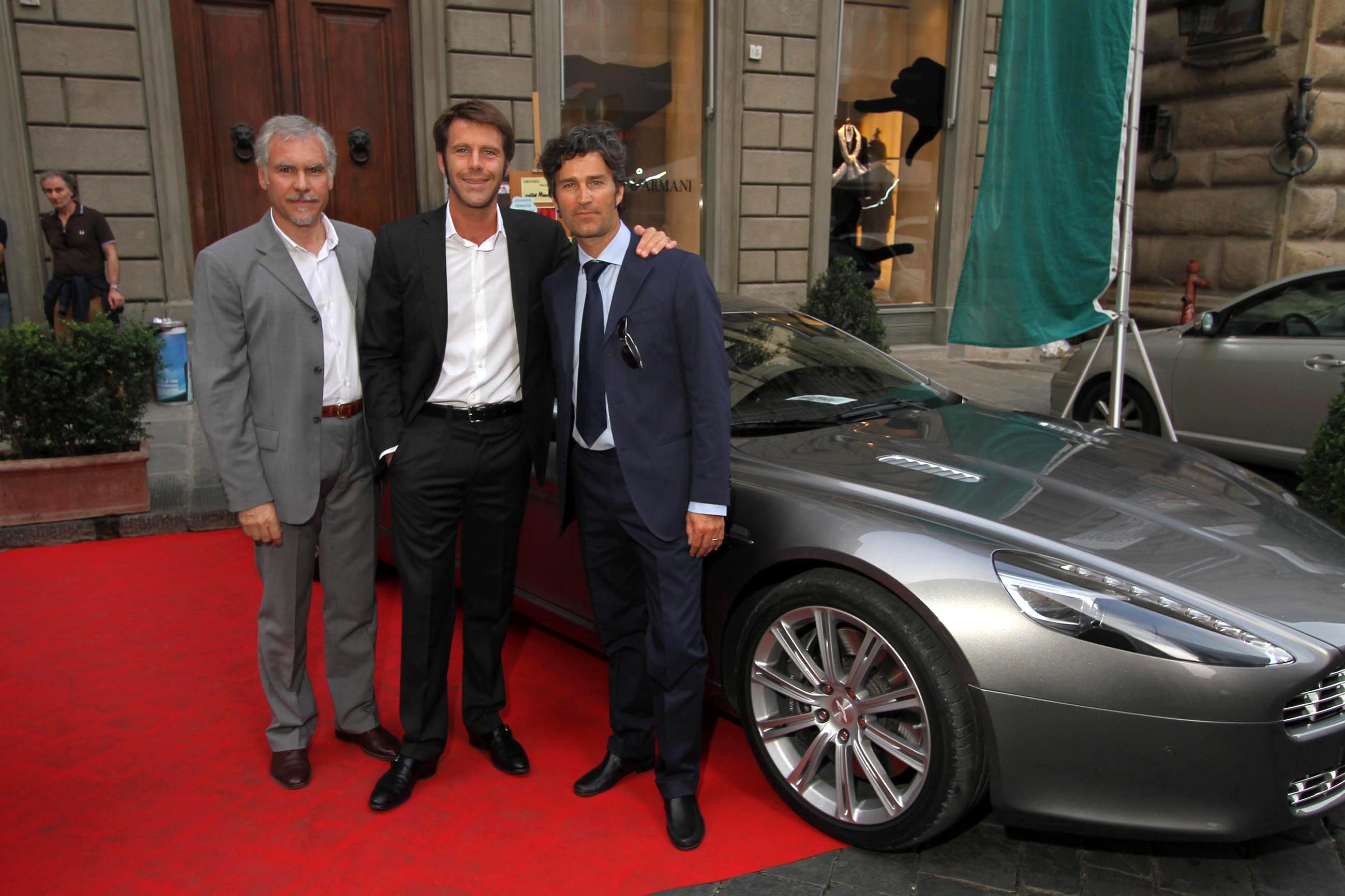 PRESSPHOTO Firenze, Evento Milord Aston Martin. Nella foto ---------, Luca Borrelli e Emanuele Filiberto di Savoia