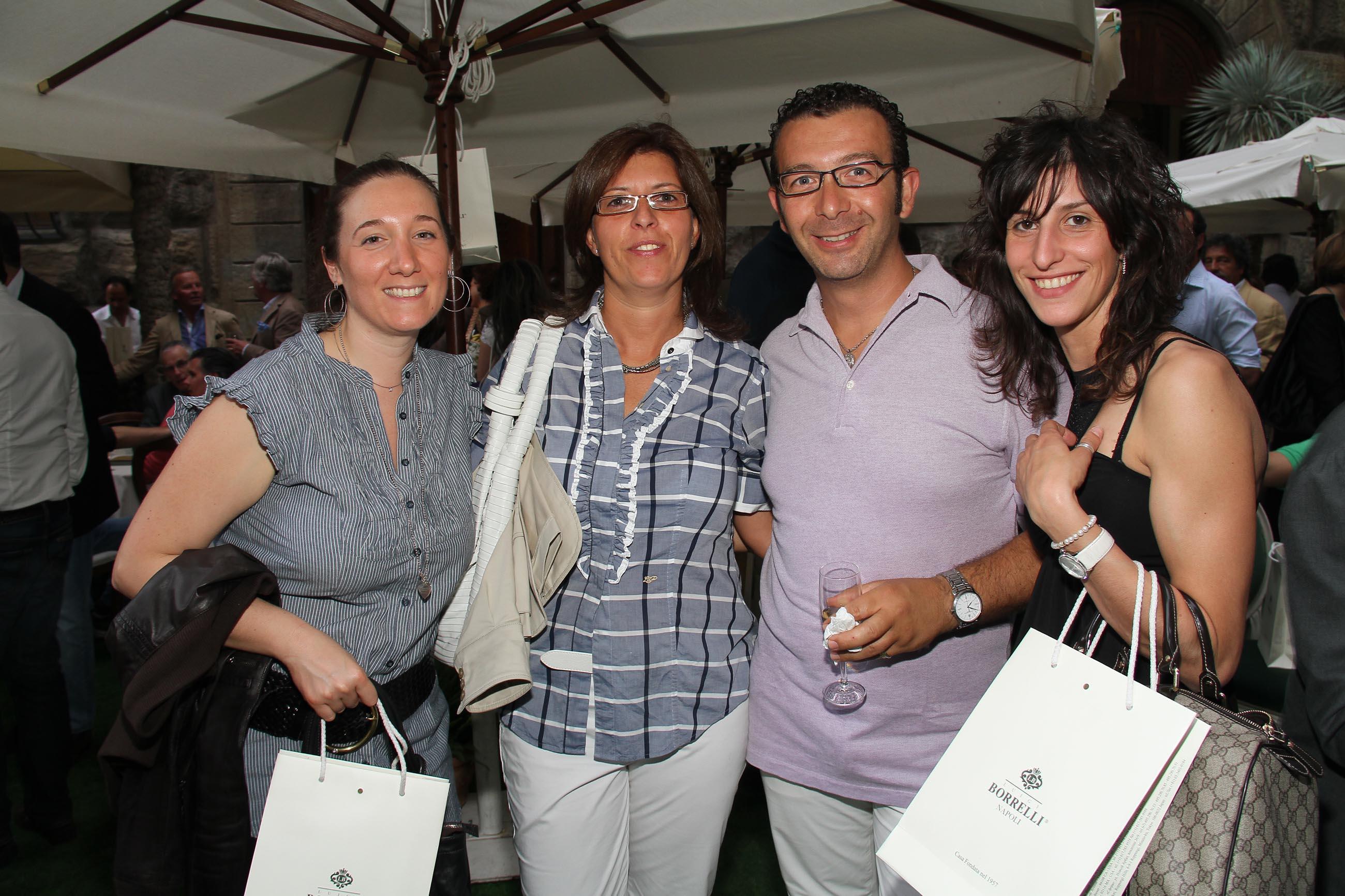 PRESSPHOTO Firenze, Evento Milord Aston Martin. Nella foto Pamela Corna, Silvia Fumagalli, Mino Forleo, Erica Lissoni