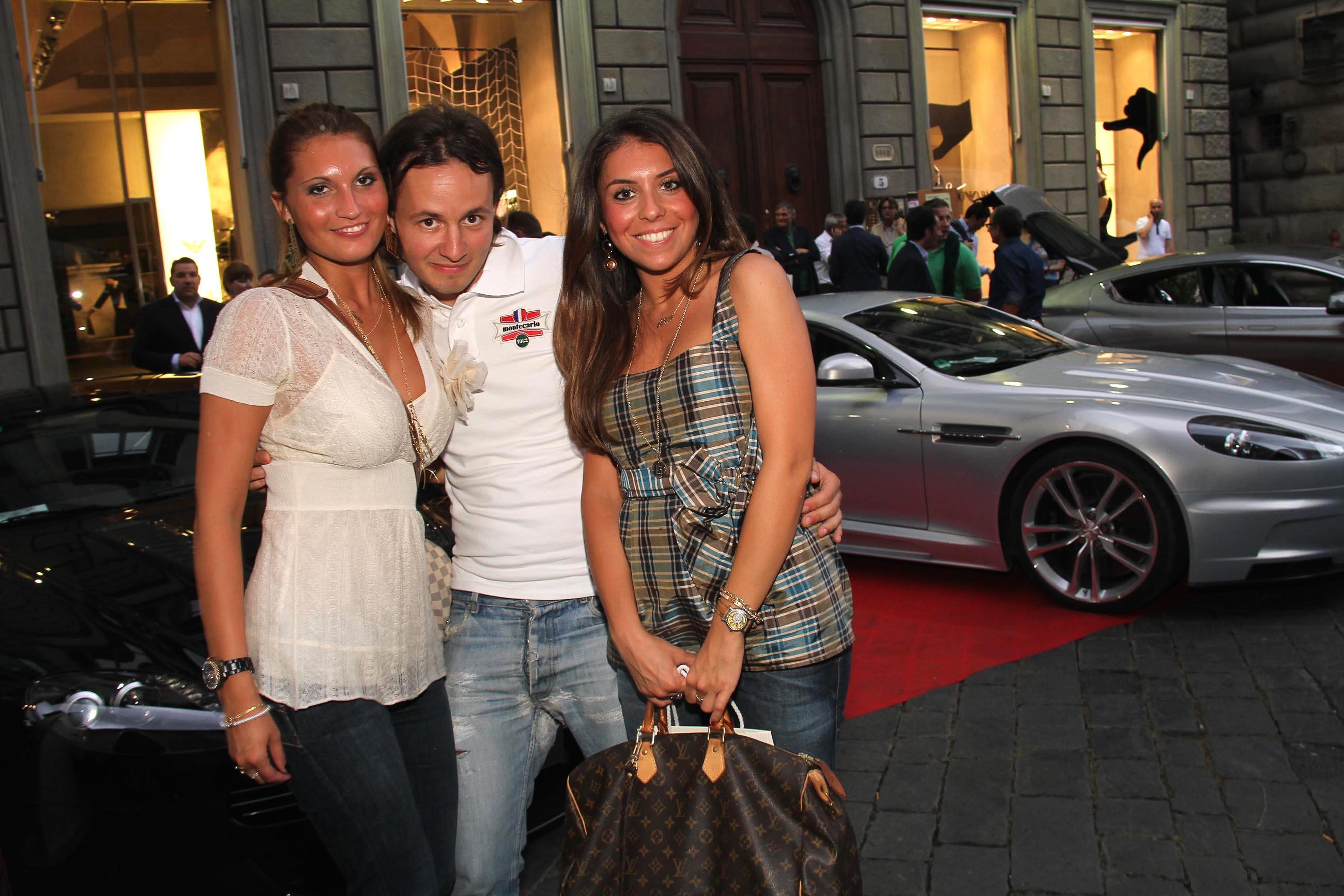PRESSPHOTO Firenze, Evento Milord Aston Martin. Nella foto Giulia Nigi, Francesco Cecchi e Alice Giotti