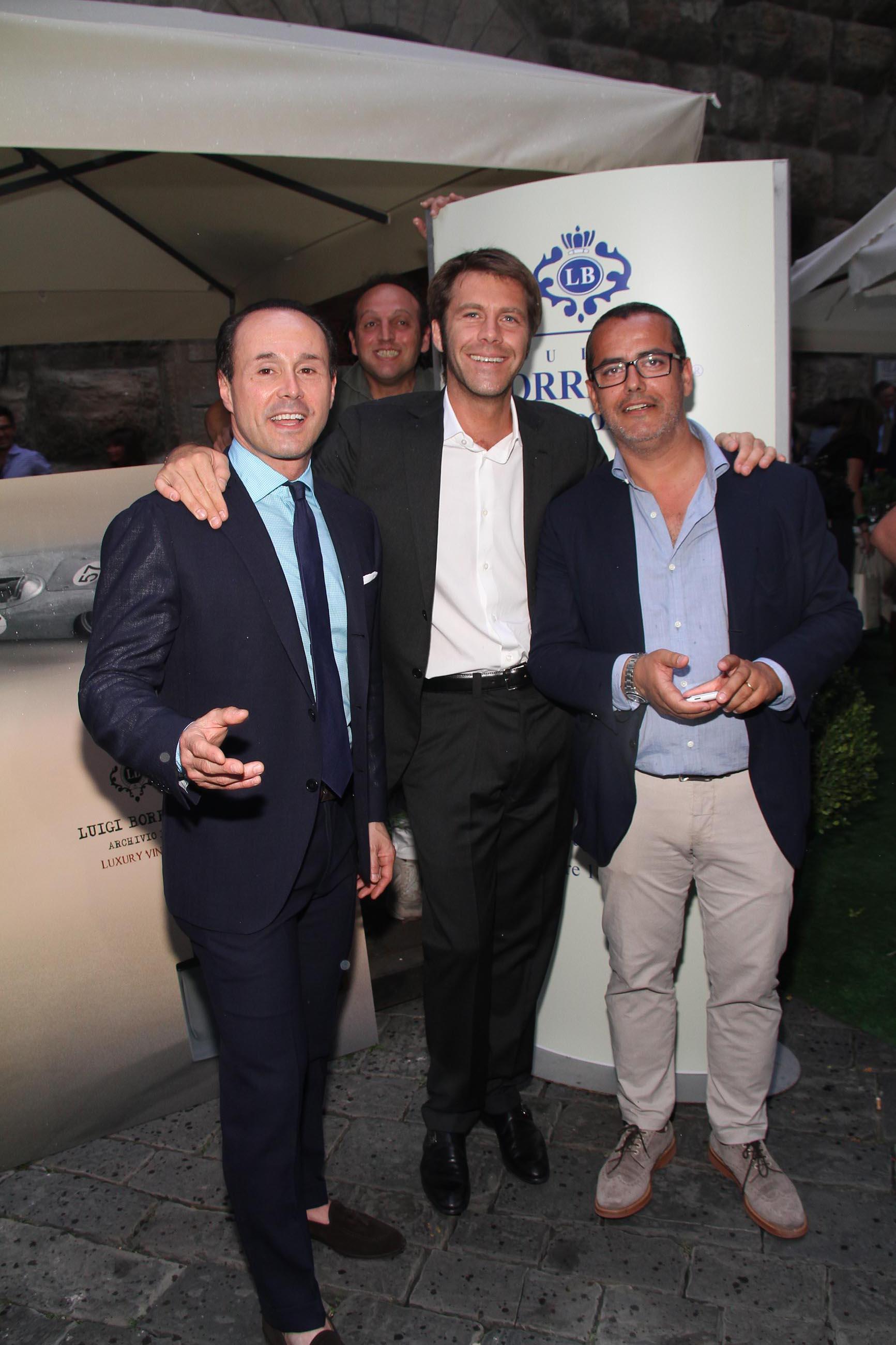 PRESSPHOTO Firenze, Evento Milord Aston Martin. Nella foto Emanuele Filiberto di Savoia con Fabio Borrelli a sx
