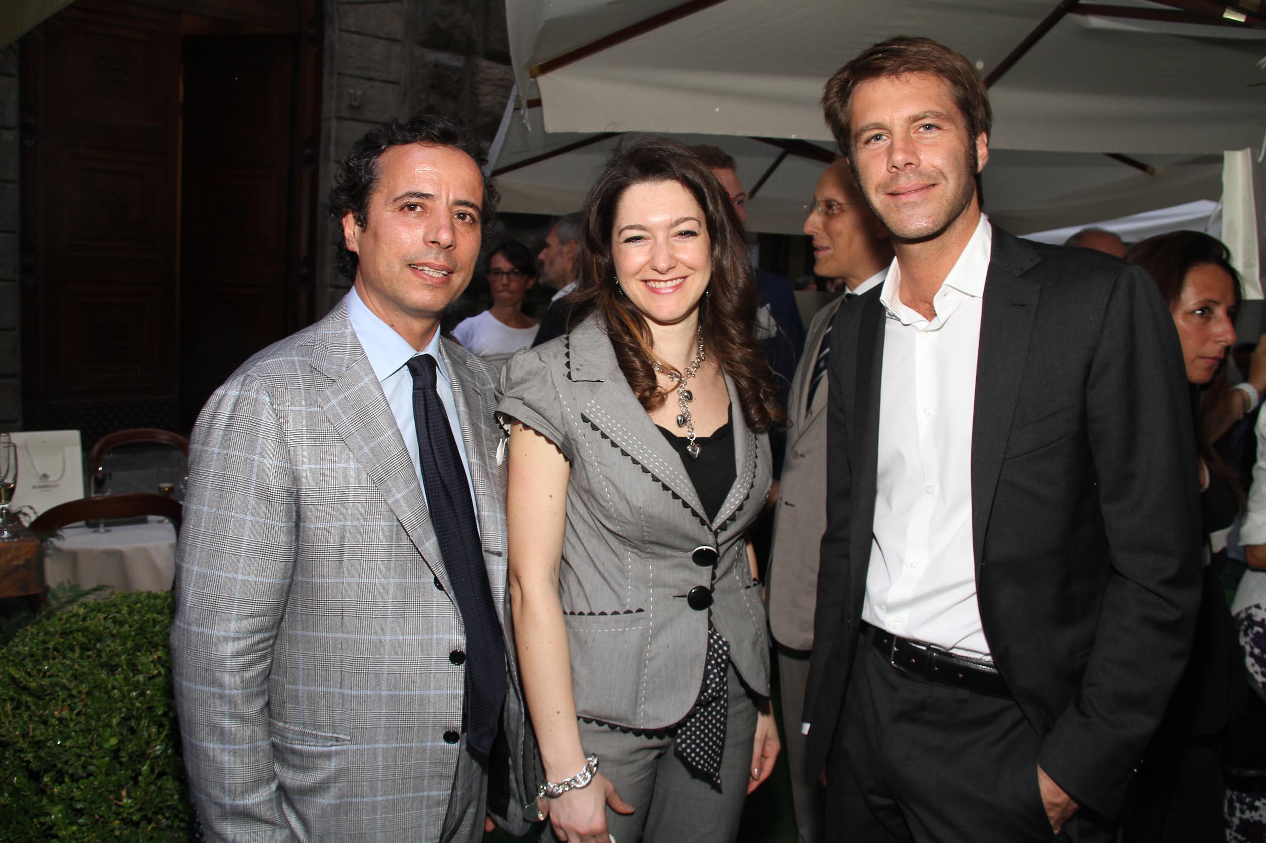 PRESSPHOTO Firenze, Evento Milord Aston Martin. Nella foto Emanuele Filiberto con Enrico Manzo e Elena Passeri