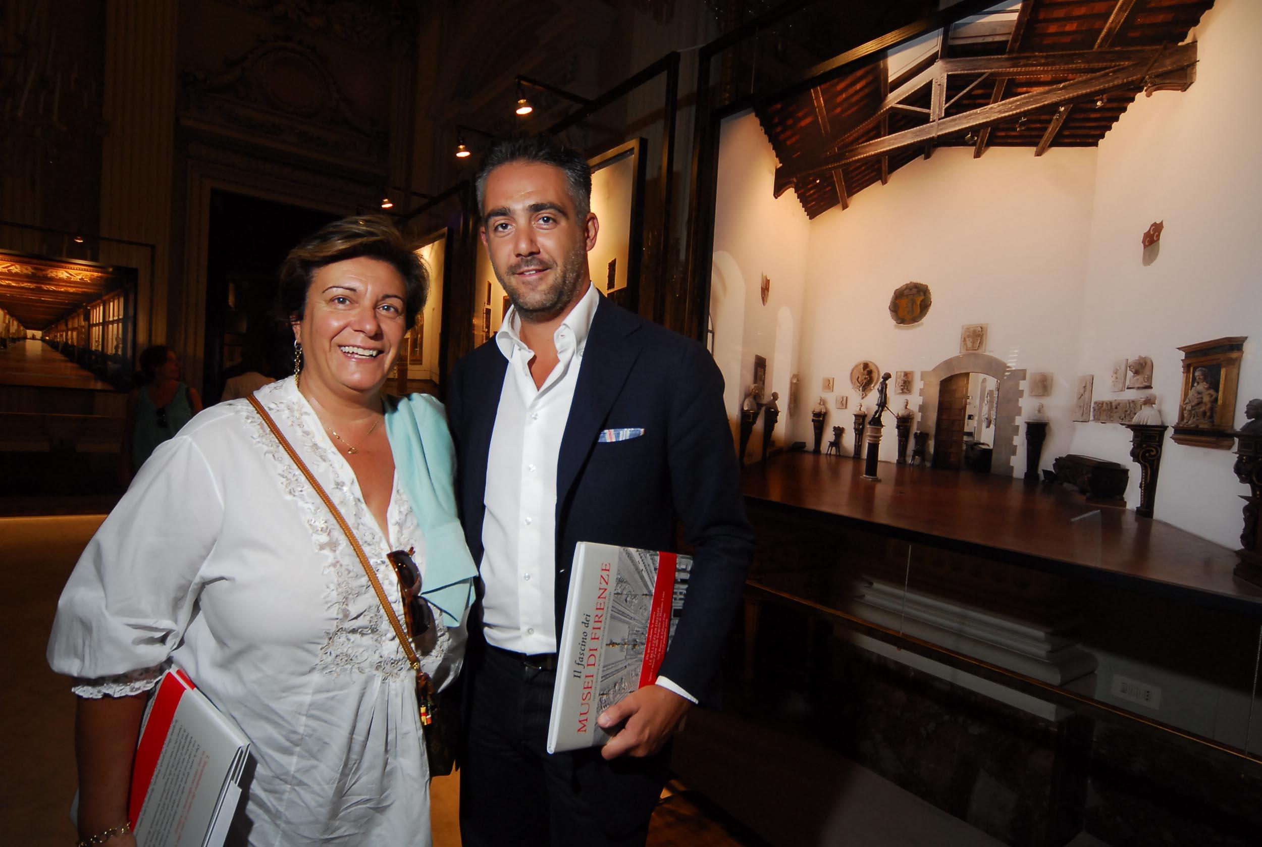 PRESSPHOTO  Firenze, Palazzo Pitti Galleria Palatina, mostra fotografica di Massimo Listri. Nella foto Matteo Parigi Bini e Eva Desiderio