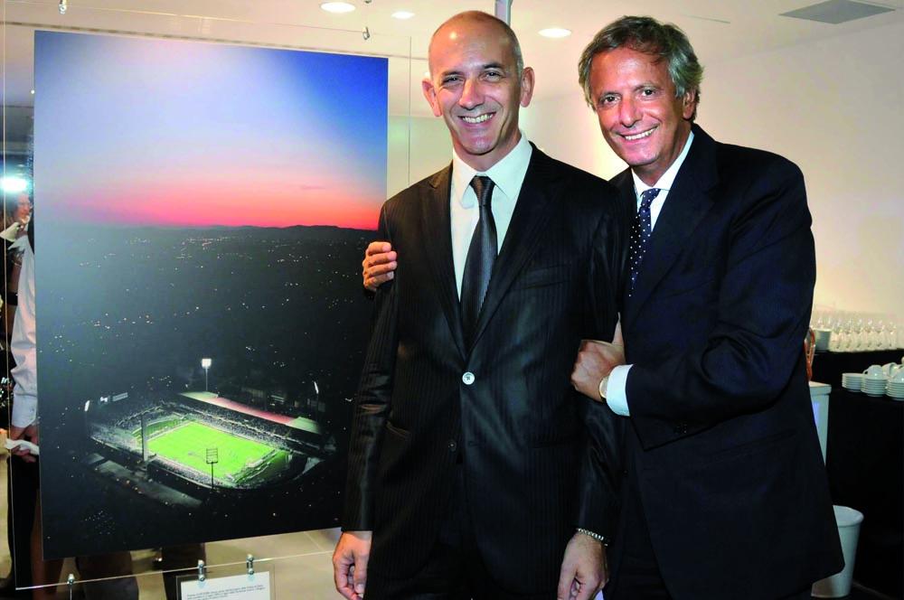 Pressphoto-Firenze Magazine Inaugurazione mostra fotografica di Massimo Sestini alla cocessionaria Audi : Luca Bedin, Giuseppe Tartaglione