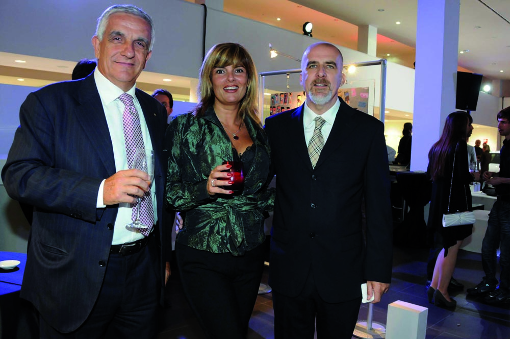 Pressphoto-Firenze Magazine Inaugurazione mostra fotografica di Massimo Sestini alla cocessionaria Audi : Marco Martelli Calvelli ,Paola Pirami, ALberto Marcellini
