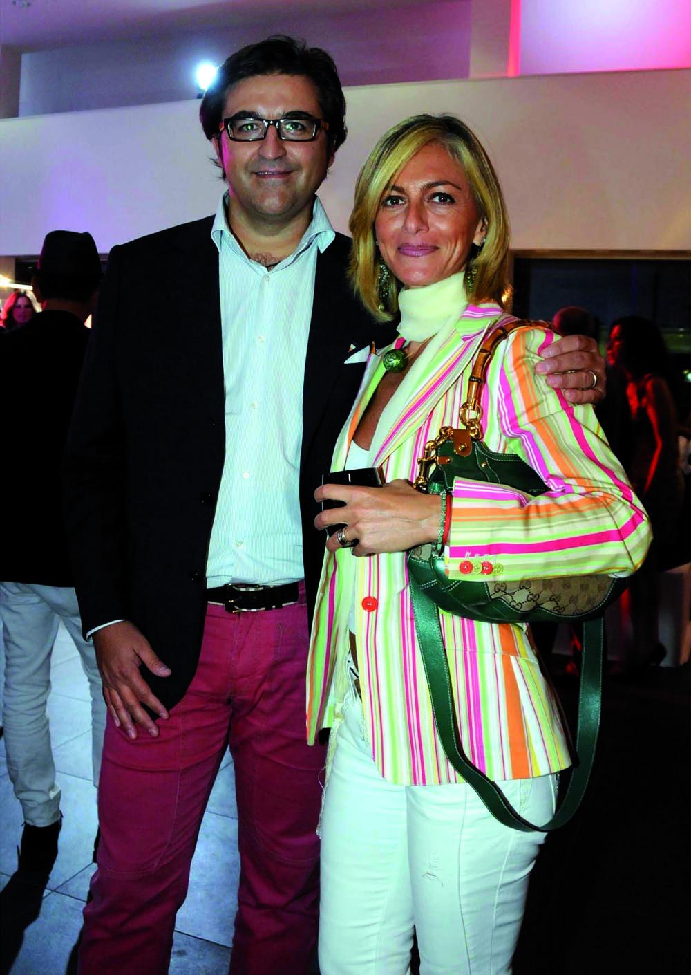 Pressphoto-Firenze Magazine Inaugurazione mostra fotografica di Massimo Sestini alla cocessionaria Audi : Angela e Dario Zafutta