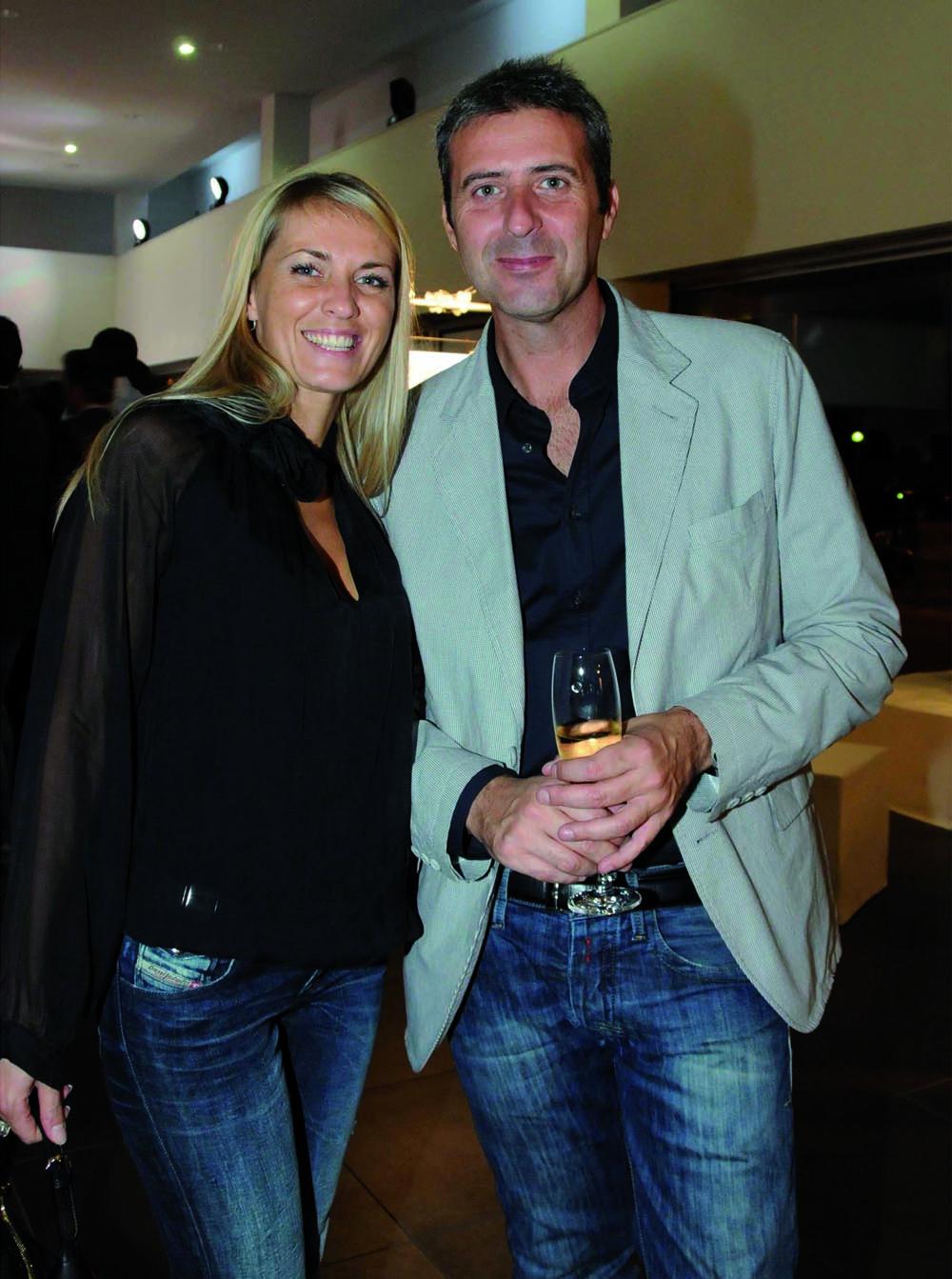 Pressphoto-Firenze Magazine Inaugurazione mostra fotografica di Massimo Sestini alla cocessionaria Audi : Isabella Mariotti, Francesco Mortelli