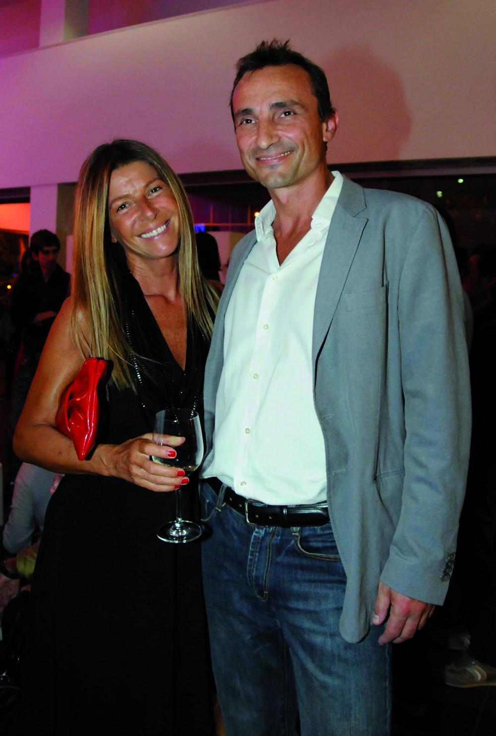 Pressphoto-Firenze Magazine Inaugurazione mostra fotografica di Massimo Sestini alla cocessionaria Audi : Roberta e Domeico Campanacci