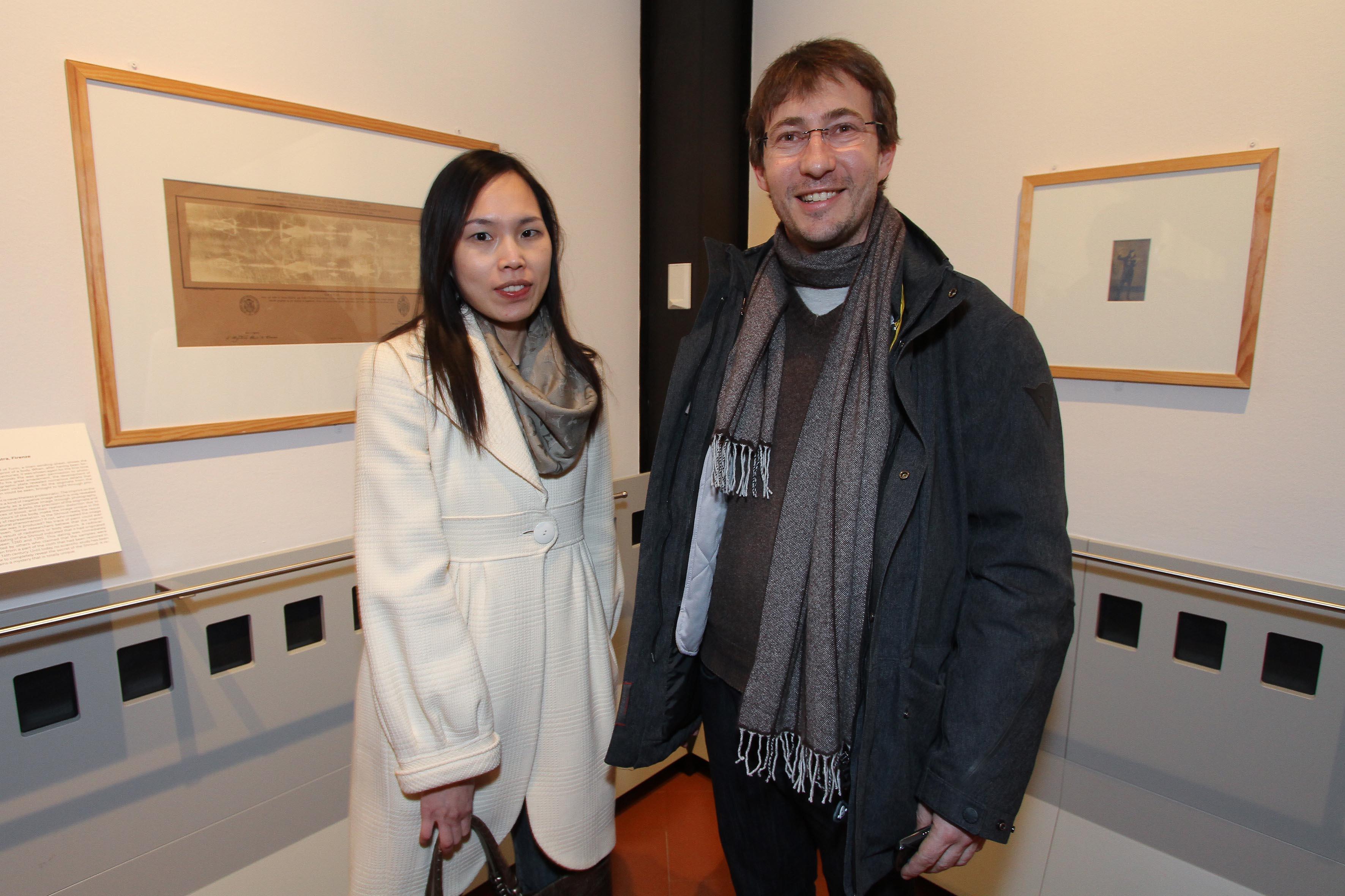 PRESSPHOTO Firenze, Museo Alinari, mostra fotografica Controverses. nella foto Davide Galastri e Carrie Chen