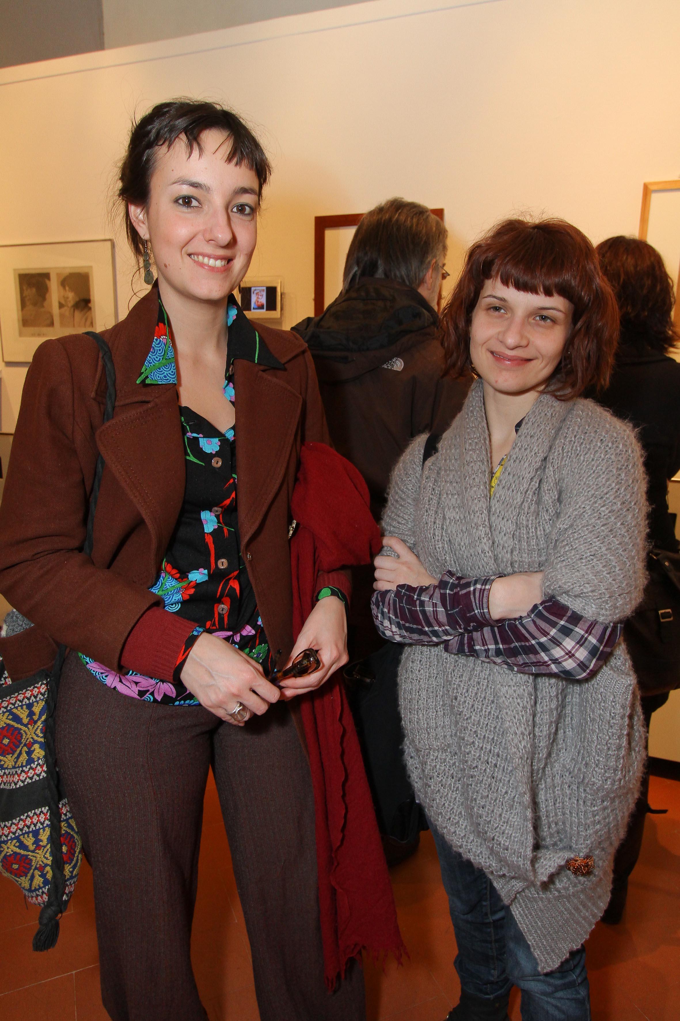PRESSPHOTO Firenze, Museo Alinari, mostra fotografica Controverses. nella foto Valentina Capitini e Laura Ciomei