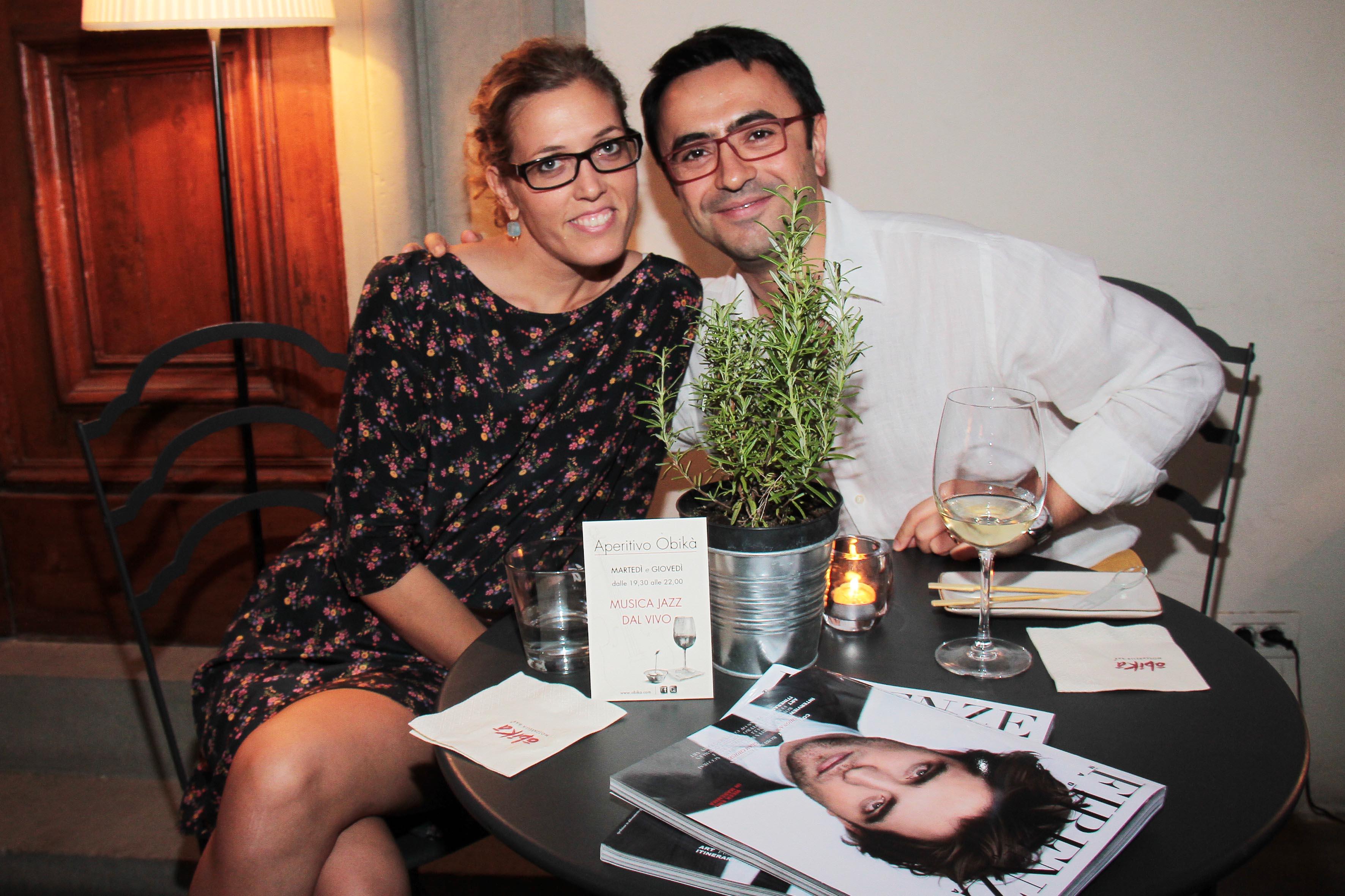 PRESSPHOTO Firenze, Obikà aperitivo. Nella foto Ilenia e Filippo Recchi  giuseppe cabras/new press photo