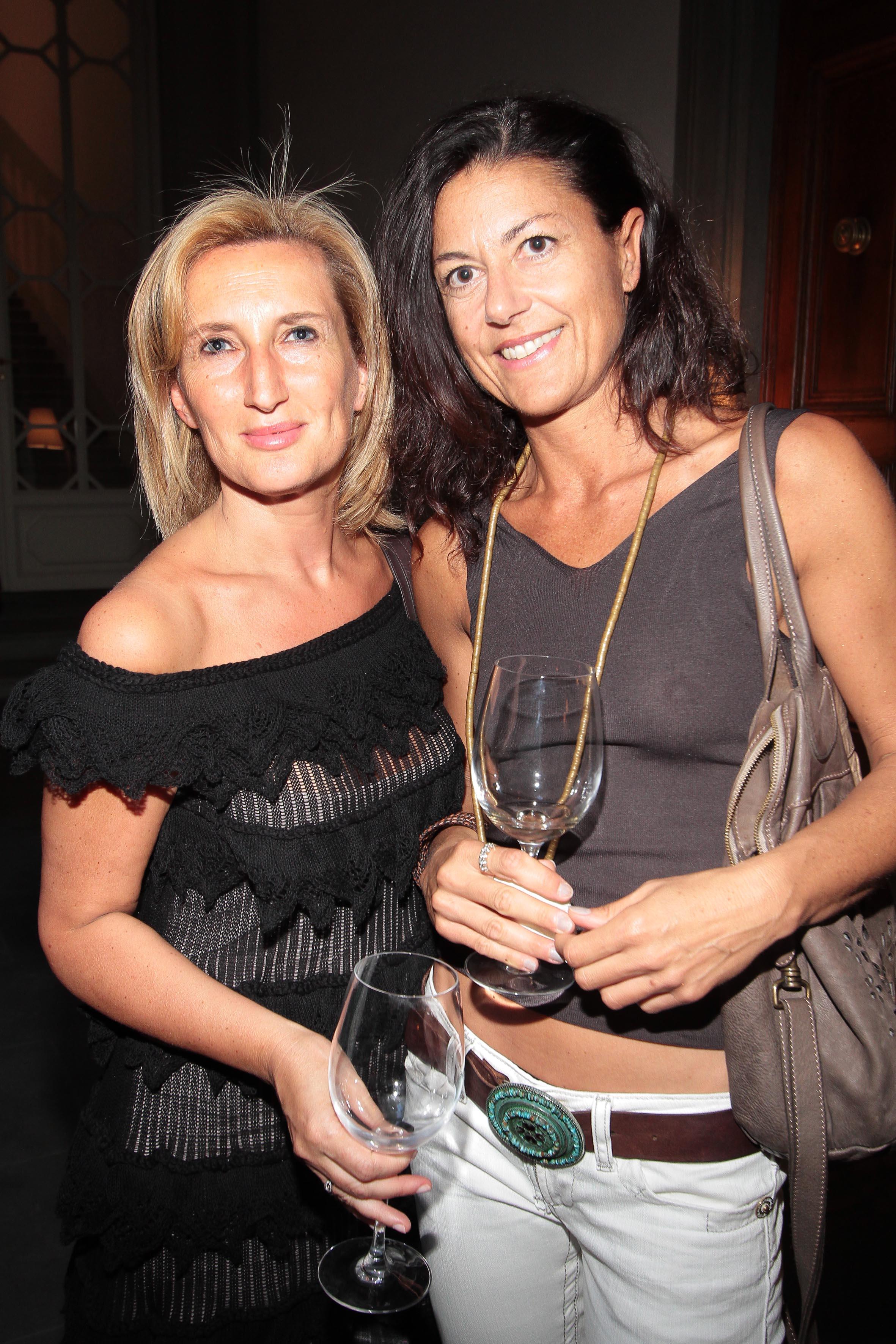 PRESSPHOTO Firenze, Obikà aperitivo. Nella foto Annarita Santoro e Germama Torelli  giuseppe cabras/new press photo