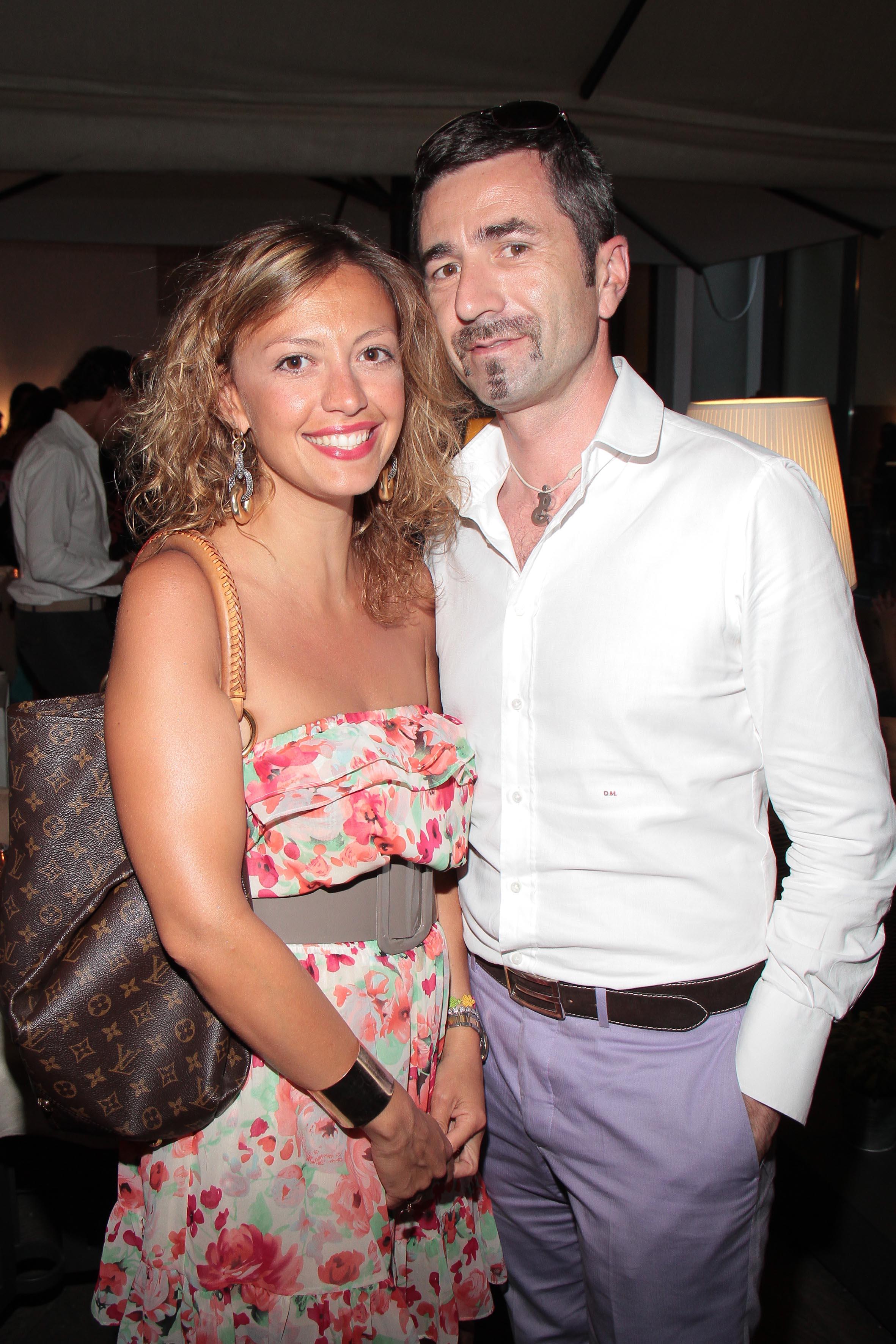 PRESSPHOTO Firenze, Obikà aperitivo. Nella foto Valentina Mattolini e Daniele Martini  giuseppe cabras/new press photo