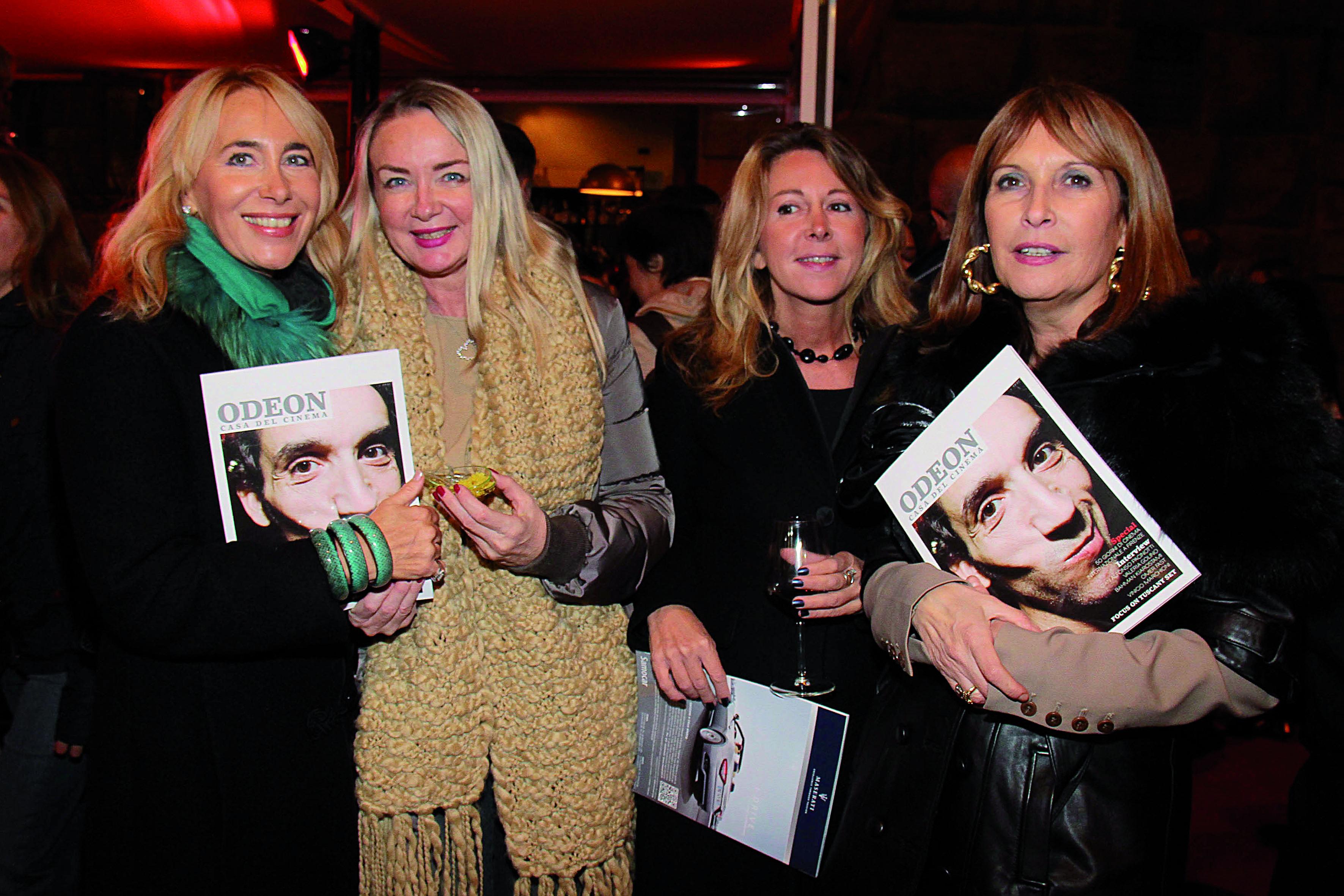 PRESSPHOTO. Firenze, Odeon Bistro, 50 giorni di cinema. Nella foto Antonella Romani, Barbara Bindi, Micaela Frumento e Stefania Boni