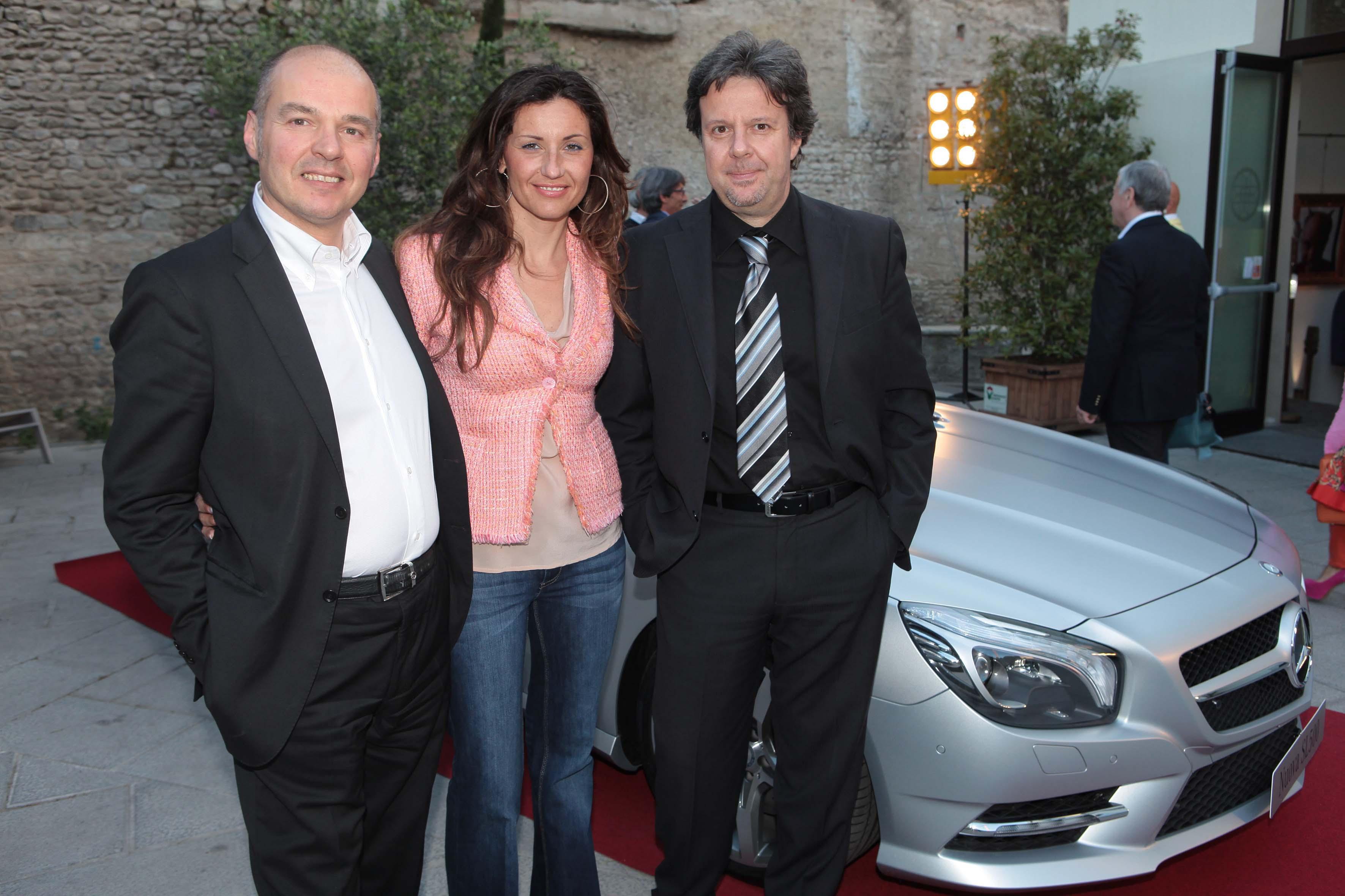 Pressphoto-Firenzemagazine-  Prato Opificio, serata Mercedes- nella foto: Sefano Ceri  Costanza Gregoratti, Giacomo Mazzei