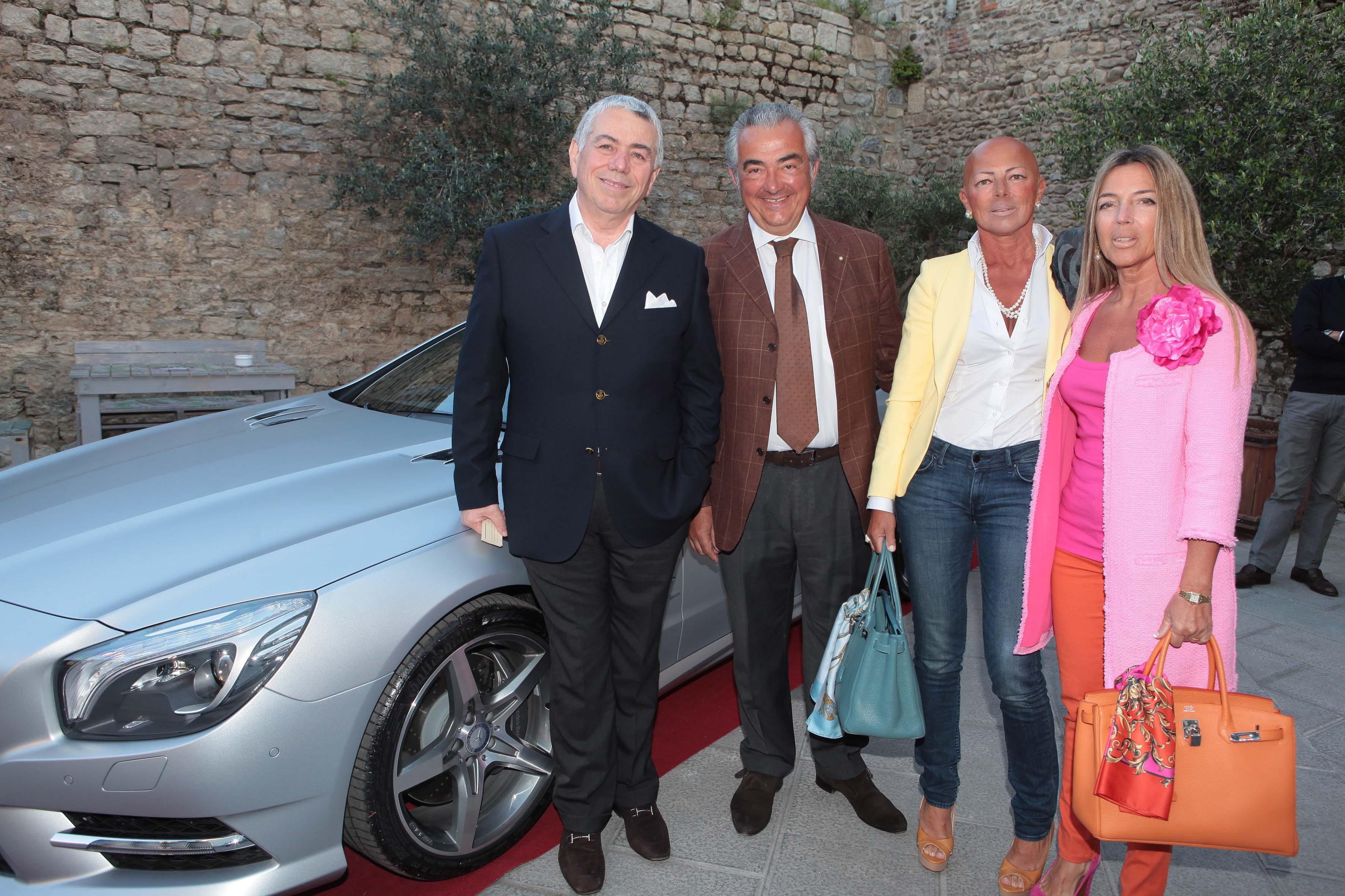 Pressphoto-Firenzemagazine-  Prato Opificio, serata Mercedes- nella foto: Marco di Lauro, Luciano Tanteri, Monica e Stefania Gori,
