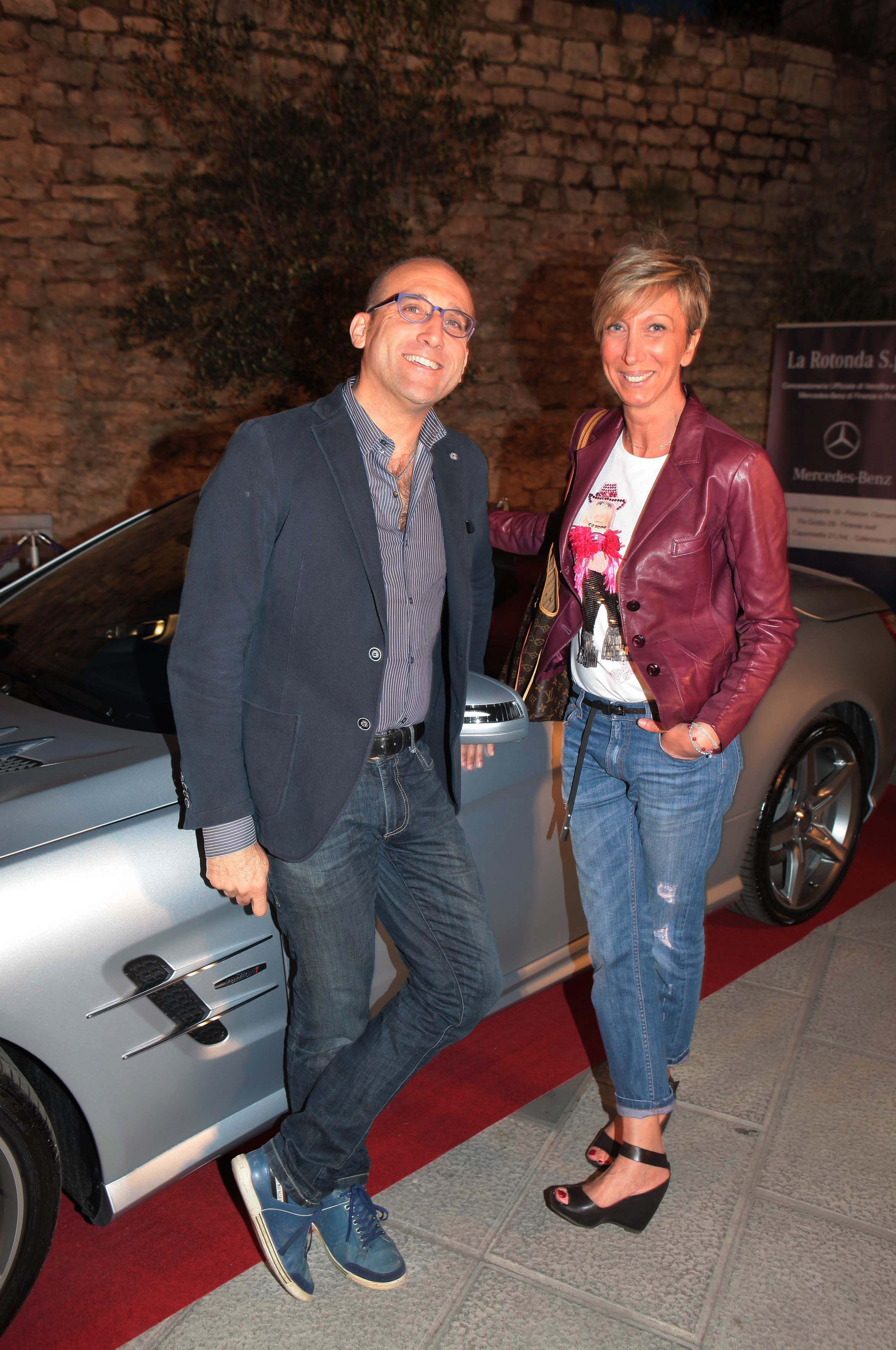 Pressphoto-Firenzemagazine-  Prato Opificio, serata Mercedes- nella foto: Simona Attucci, Massimiliano Maggini