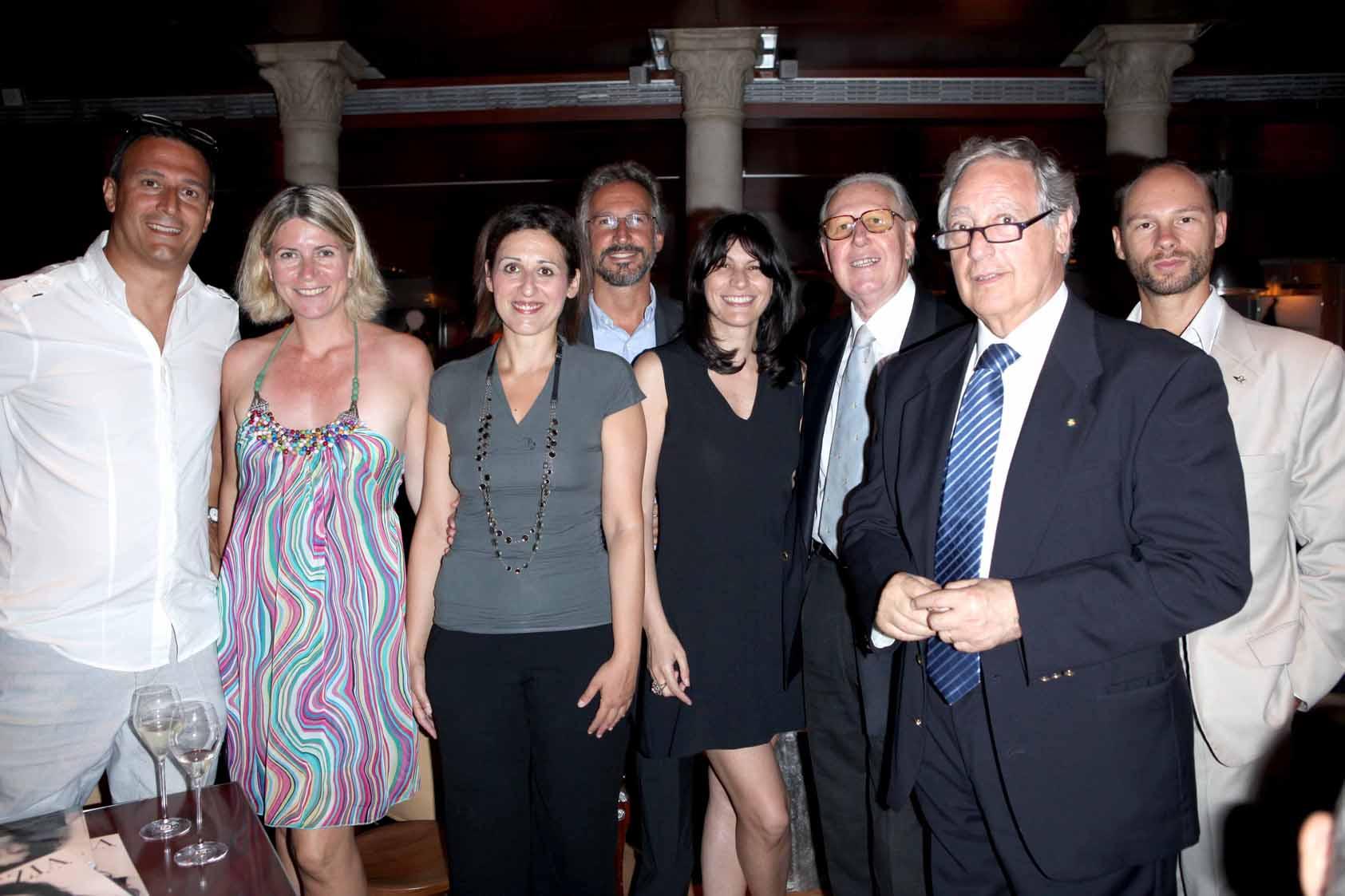VENEZIA 06-07-2011 PALAZZINA GRASSI. PRESENTAZIONE DELLA RIVISTA VENEZOA MADE IN VENETO. NELLA FOTO:MICHELE FULIN,ELENA MAGRO,DANIELA GIUSTO,RICCARDO PETITO,FEDERICA REPETTO,GIANANTONIO SCHIAFFINO,MARIO REPETTO,DAVIDE BUSATO