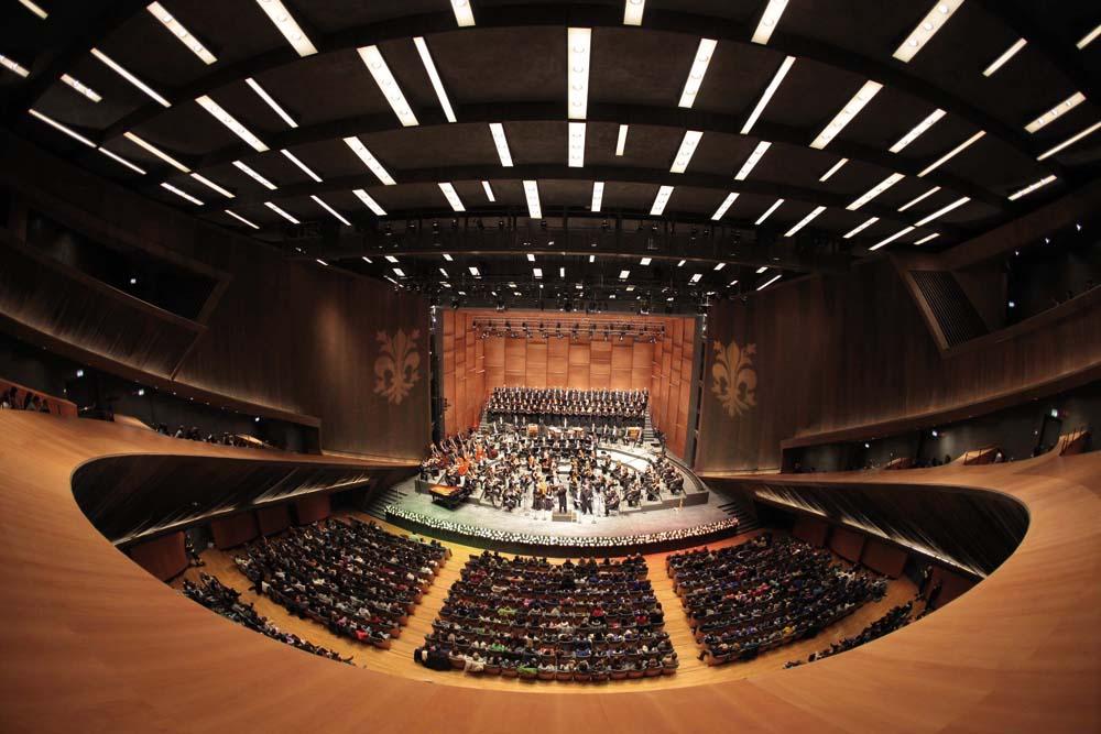 Teatro del Maggio Musicale Fiorentino, , Inaugurazione del Parco della Musica, Il maestro Zubin Mehta dirige L'orchestra e il Coro del MMF Foto Gianluca Moggi/NEWPRESSPHOTO