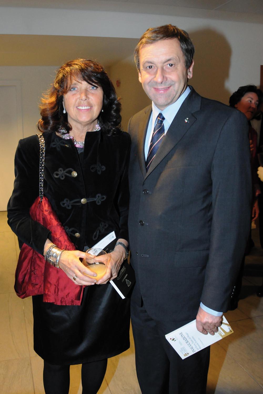 Teatro del Maggio Musicale Fiorentino, , Inaugurazione del Parco della Musica,  Nella foto il ministro Profumo con la moglie Gianluca Moggi/NEWPRESSPHOTO