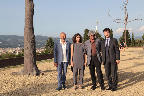Sergio Risaliti, Arabella Natalini, Giuseppe Penone, Dario Nardella