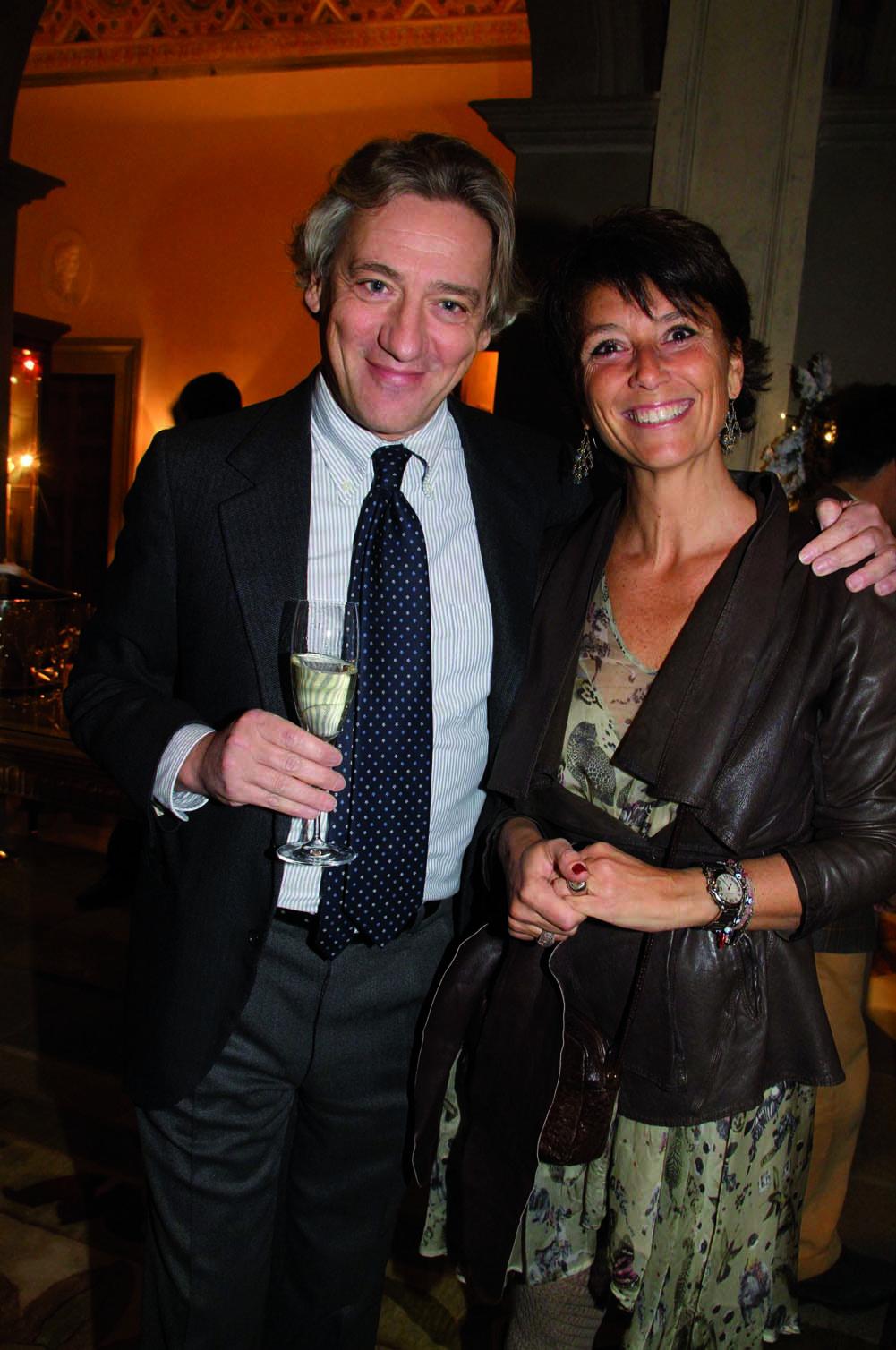 PressphotoFirenze -Hotel Four Season- Serata Piccini  nella foto: Andrea Sacchetti, BArbara Anzillotti
