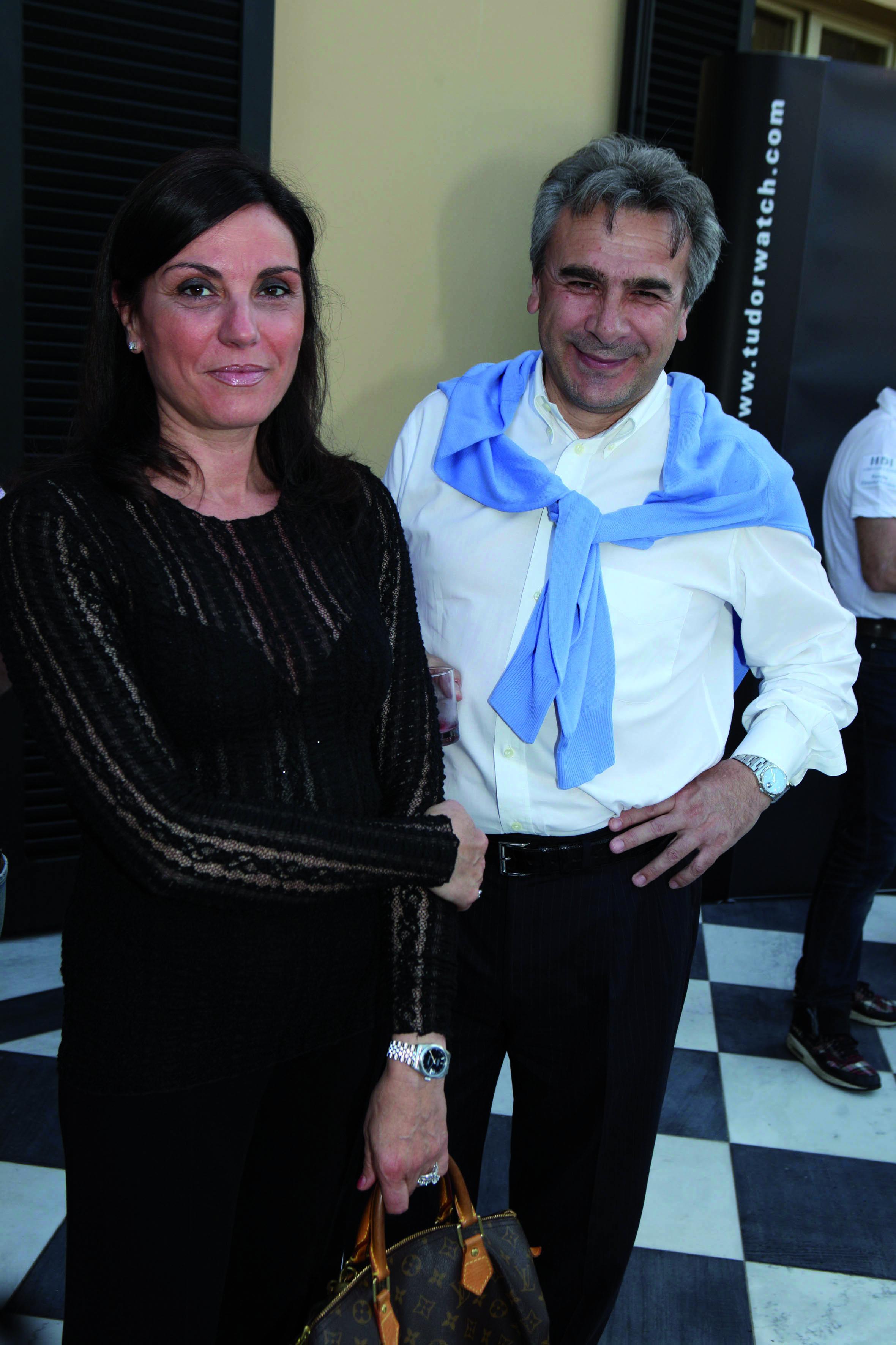 NEWPRESSPHOTO Forte dei Marmi, Evento Porche  nella foto :Pietro e Stefania Menchini