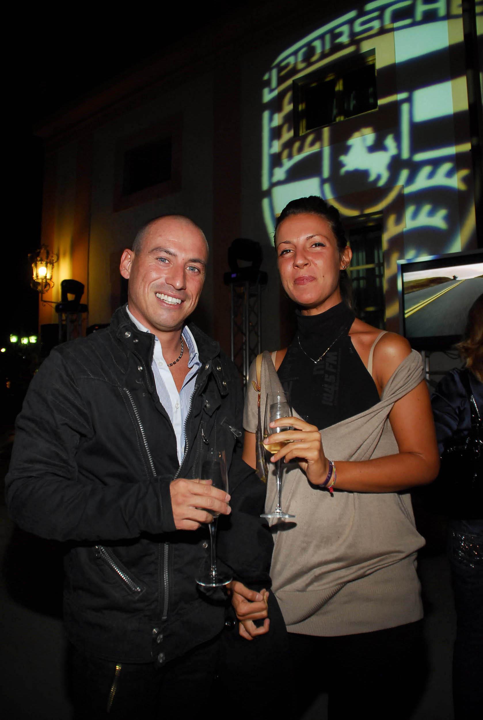 PRESSPHOTO  Firenze, Resort Villa Olmi, presentazione Porsche Panamera. Nella foto Federico Pieri e Serena Bussetti