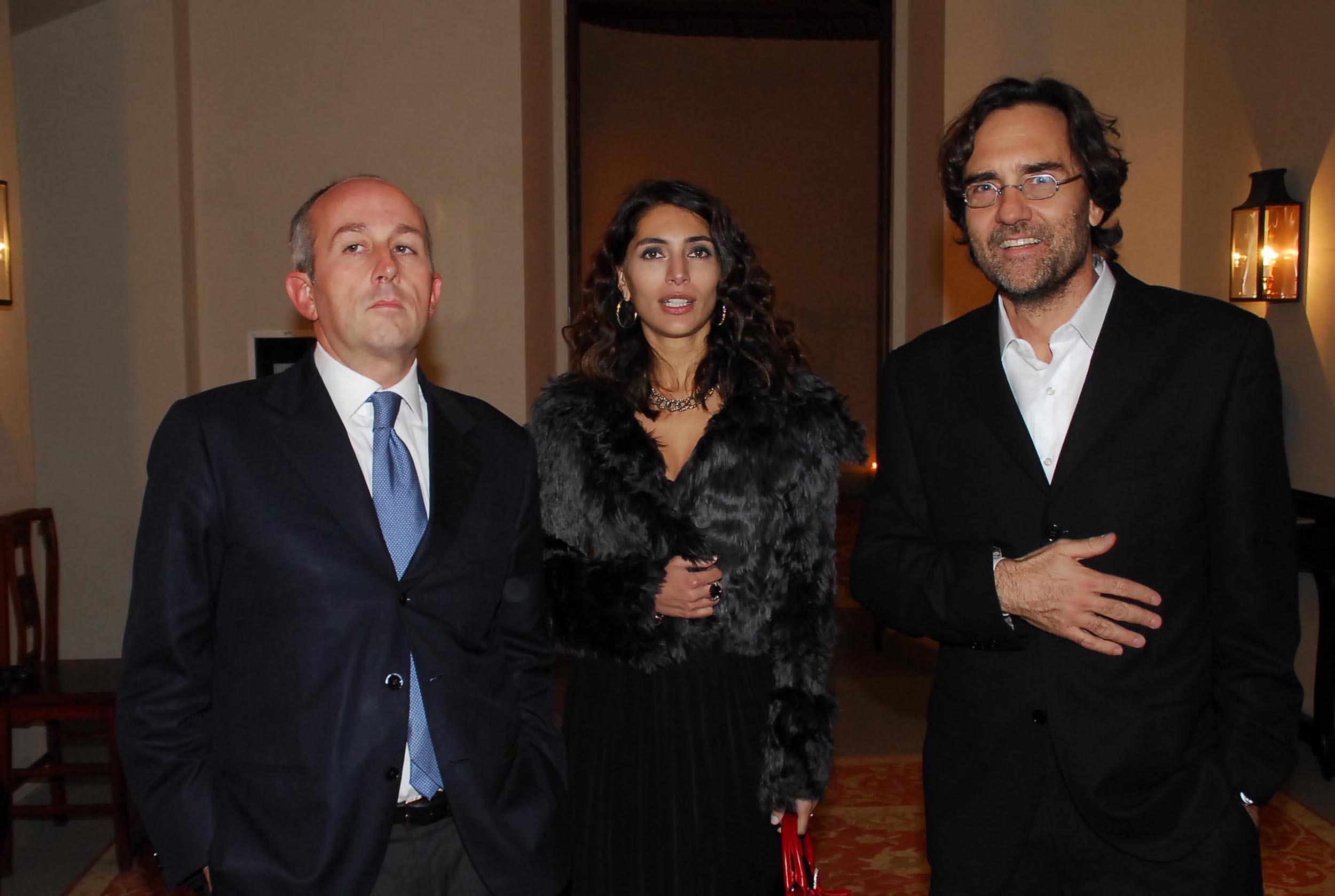 PRESSPHOTO Firenze, Cinema Odeon, Renzi assegna il Fiorino d'oro a Charles Aznavour, segue cena di gala a Palazzo Tornabuoni. In foto al centro Caterina Murino