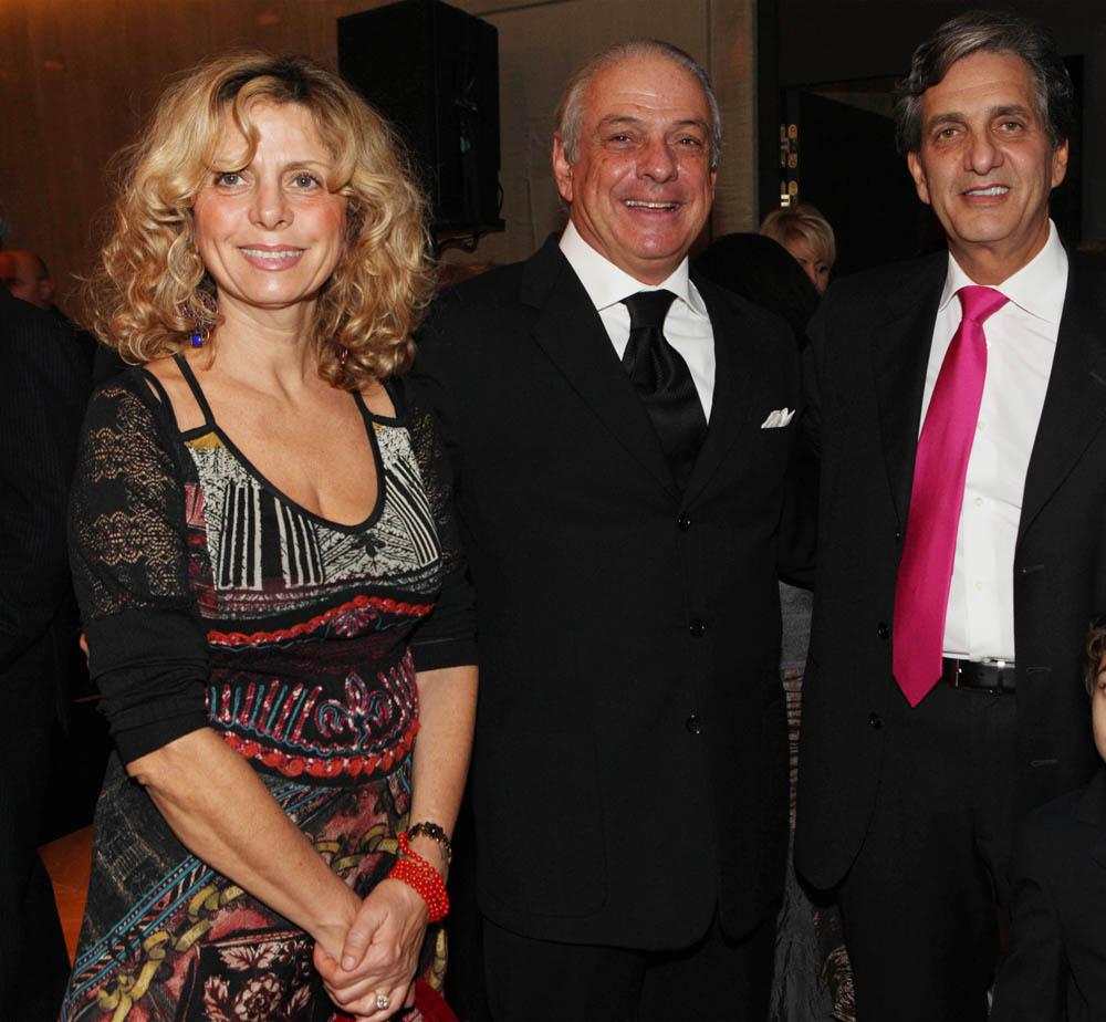 Milano, inaugurazione Rosa Grand, nuovo albergo dell Starhotel , foto Gianluca Moggi/NEWPRESSPHOTO. nella foto : Ricardo Zucconi con la moglie ed il marito di Elisabetta Fabri