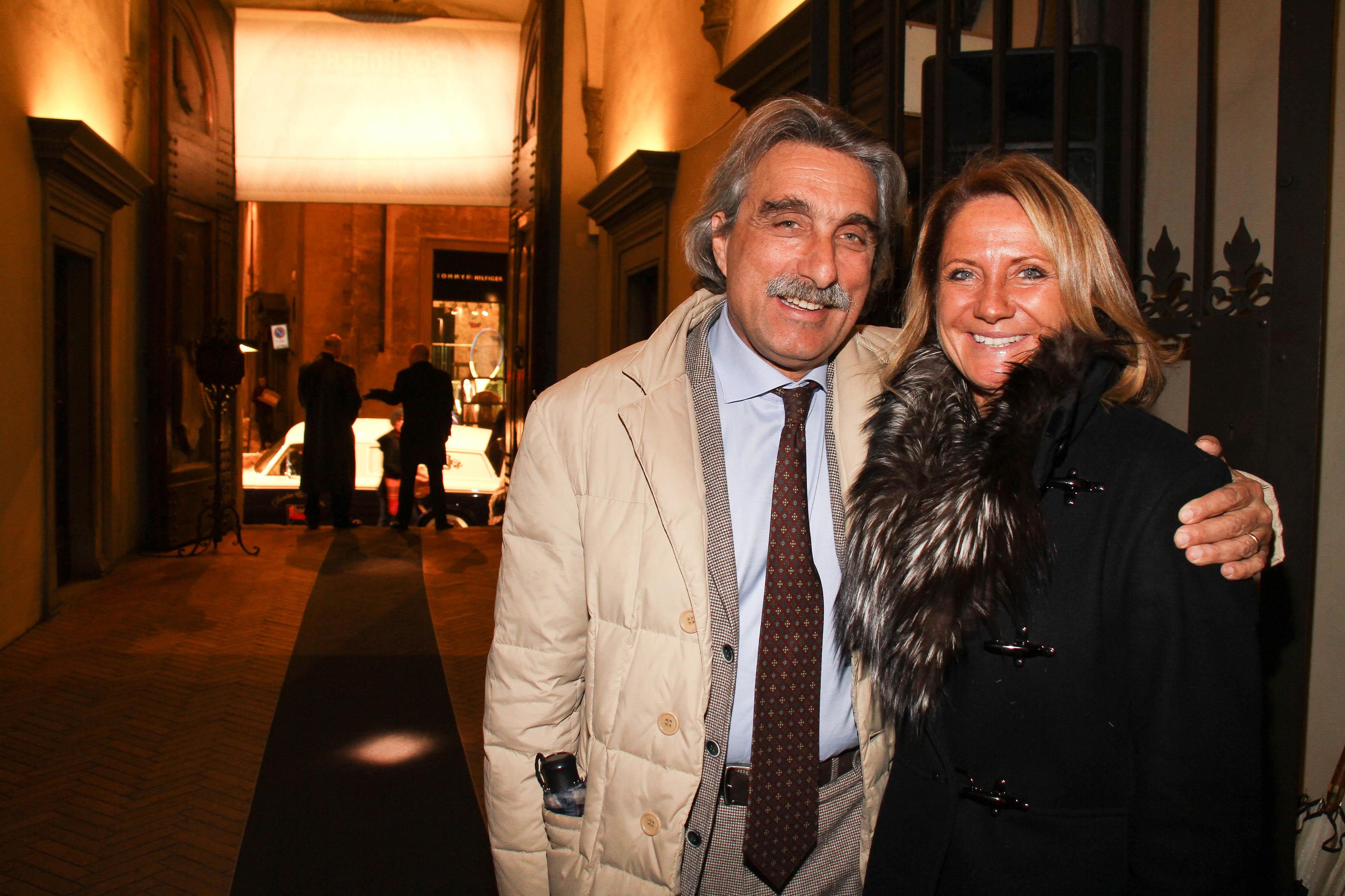 PRESSPHOTO  Firenze, Palazzo Antinori, festa Roy Rogers. Nella foto Oliva Scaramuzzi e Vincenzo Di Nardo