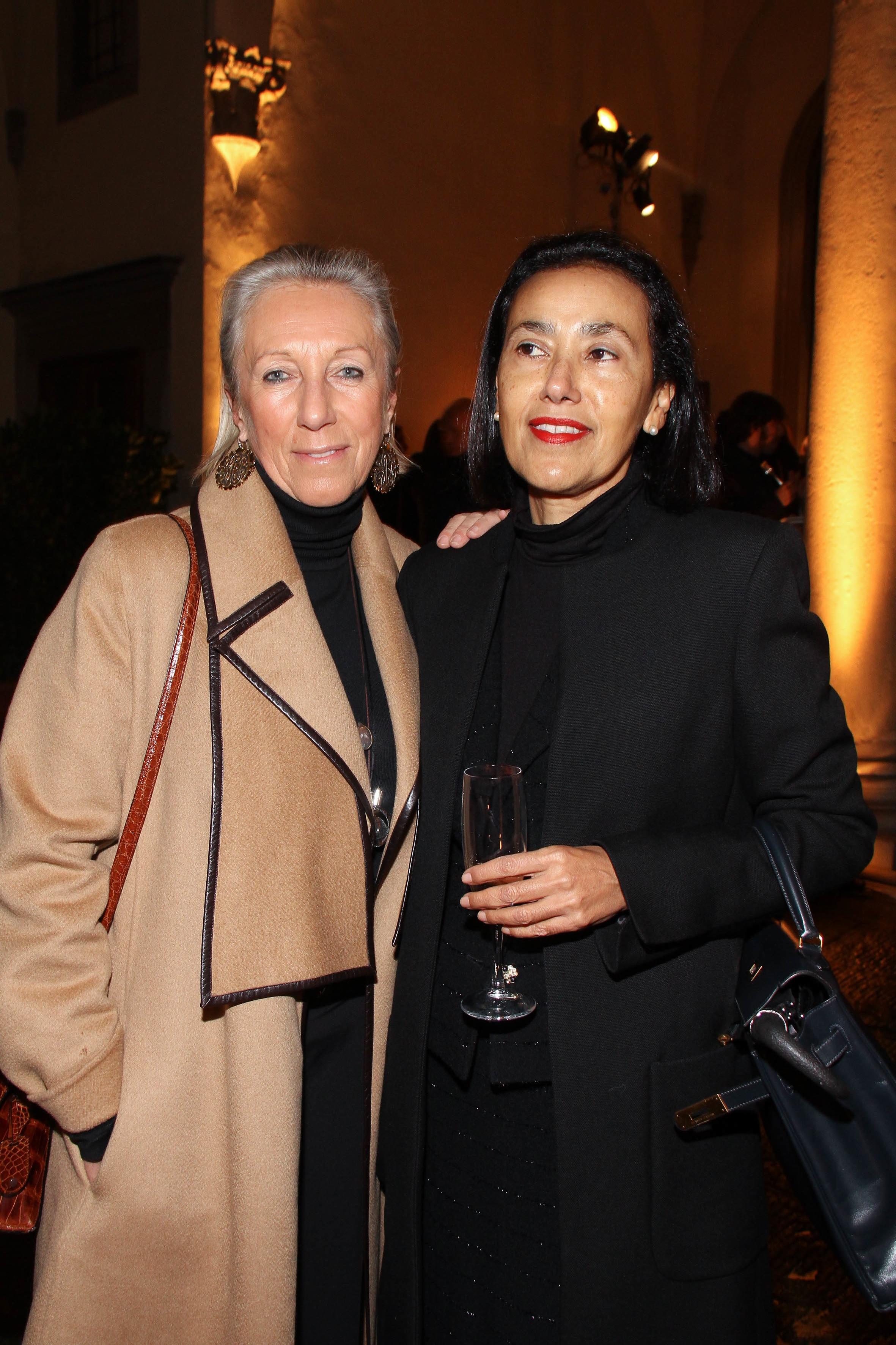 PRESSPHOTO  Firenze, Palazzo Antinori, festa Roy Rogers. Nella foto Cristina Castagna e Belinda Squilloni
