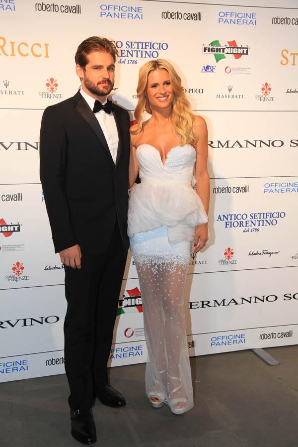 Tommaso Trussardi and Michelle Hunziker