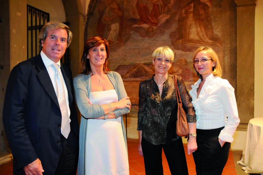 Pressphoto, Firenze Magazine, Serata Piccini al Convitto della Calza,: Marco Fiorini, Daniela Solzi, Mariella Becacci,Libera Mione