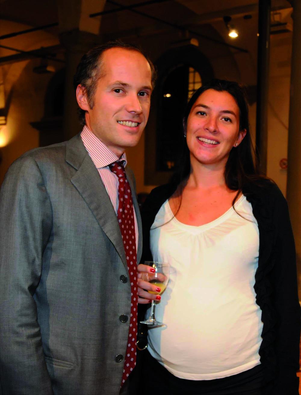 Pressphoto, Firenze Magazine, Serata Piccini al Convitto della Calza,:  Manfredi e Alessandra Olivetti Rason