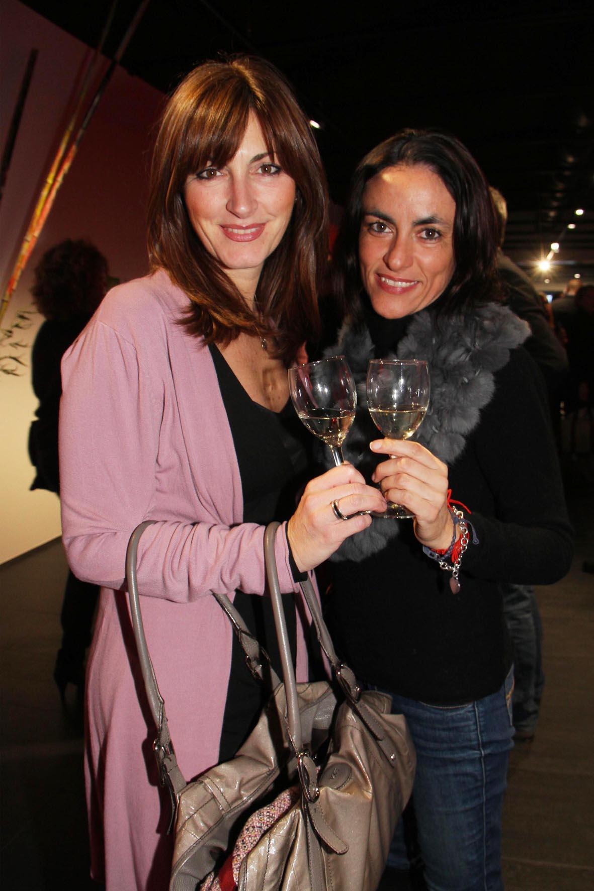 PRESSPHOTO. Firenze, inaugurazione sala da gioco Sisal Wincity. Nella foto Lucia ROmagnoli e Angela D'Eboli Giuseppe Cabras/New Press Photo