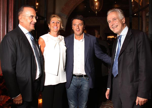 Cecilia Peruzzi, Matteo Renzi and Eugenio Giani