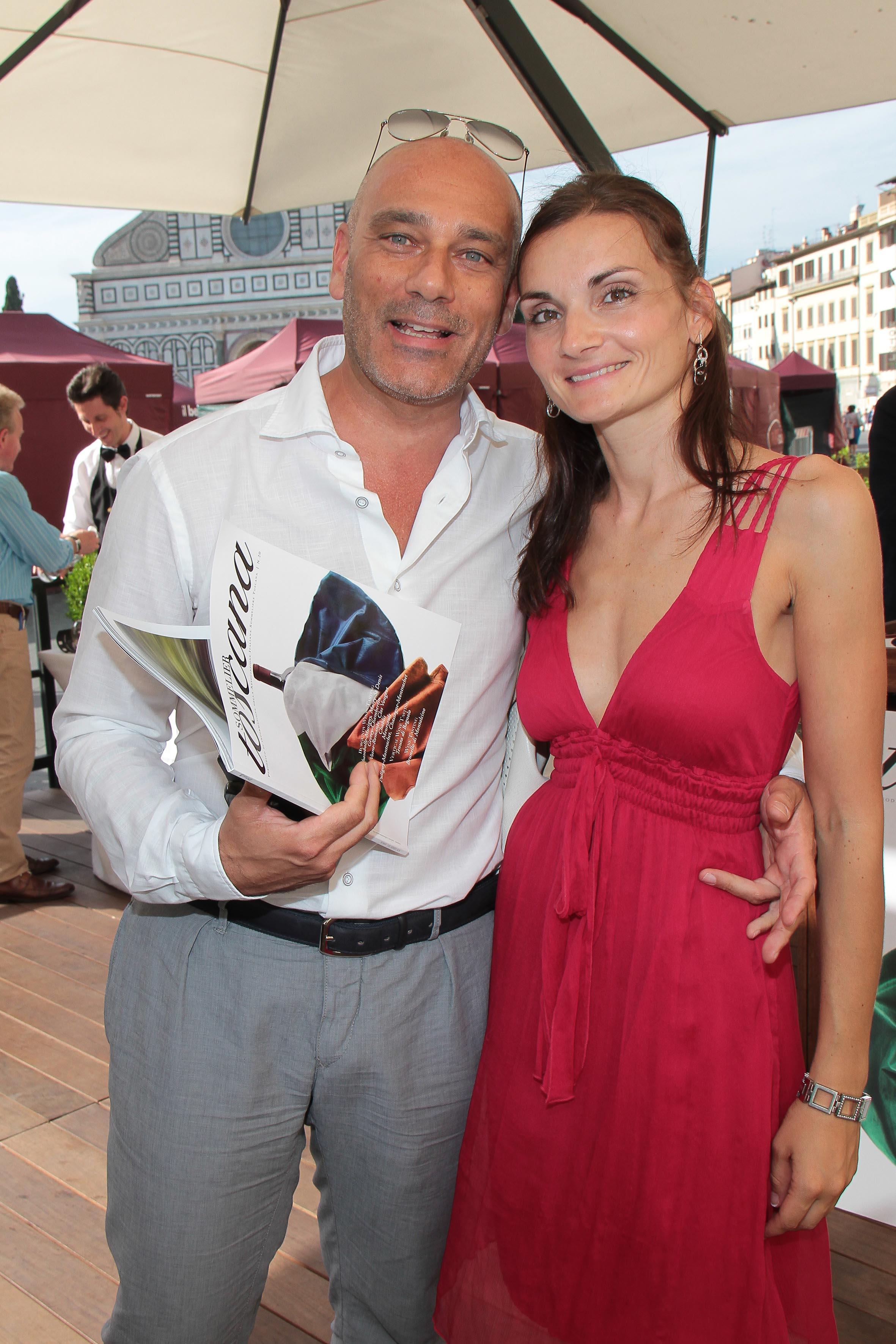 PRESSPHOTO Firenze, JK Place, Toscana Sommelier. Nella foto Karin Matscher e Gianni Tartarini giuseppe cabras/new press photo