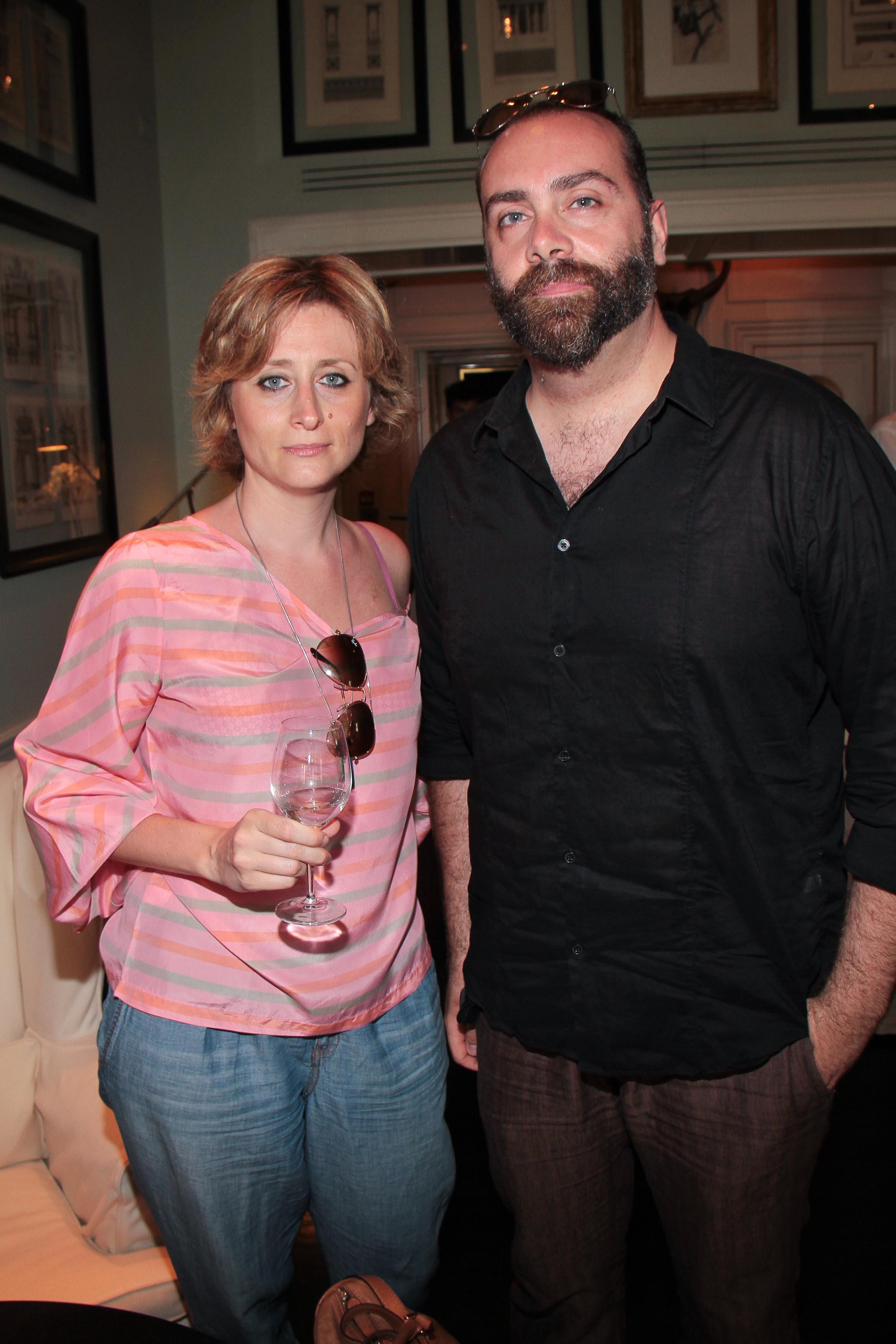 PRESSPHOTO Firenze, JK Place, Toscana Sommelier. Nella foto Sandra Salvato e Riccardo Brizzi giuseppe cabras/new press photo