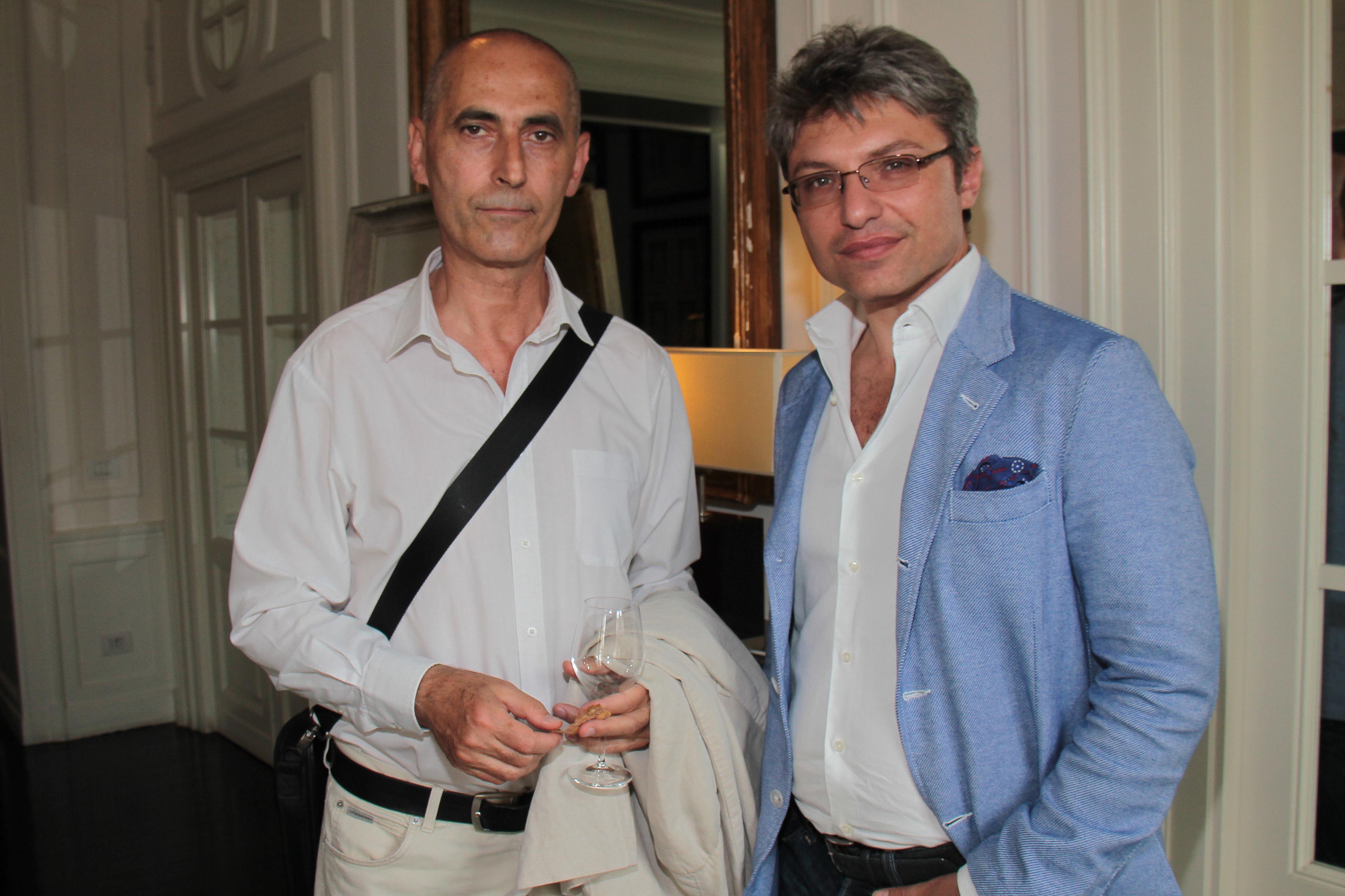 PRESSPHOTO Firenze, JK Place, Toscana Sommelier. Nella foto Claudio Meli e Vincenzo Tanzj giuseppe cabras/new press photo