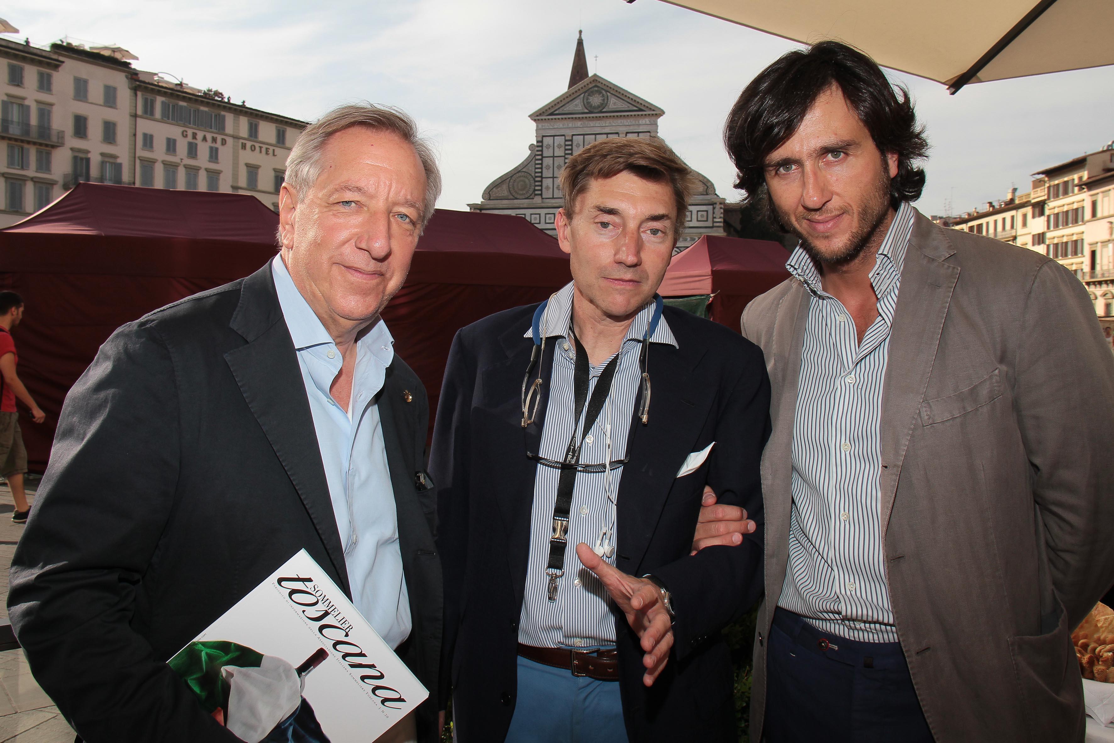 PRESSPHOTO Firenze, JK Place, Toscana Sommelier. Nella foto Osvaldo Baroncelli, Marco Raveggi e Alex Lana giuseppe cabras/new press photo