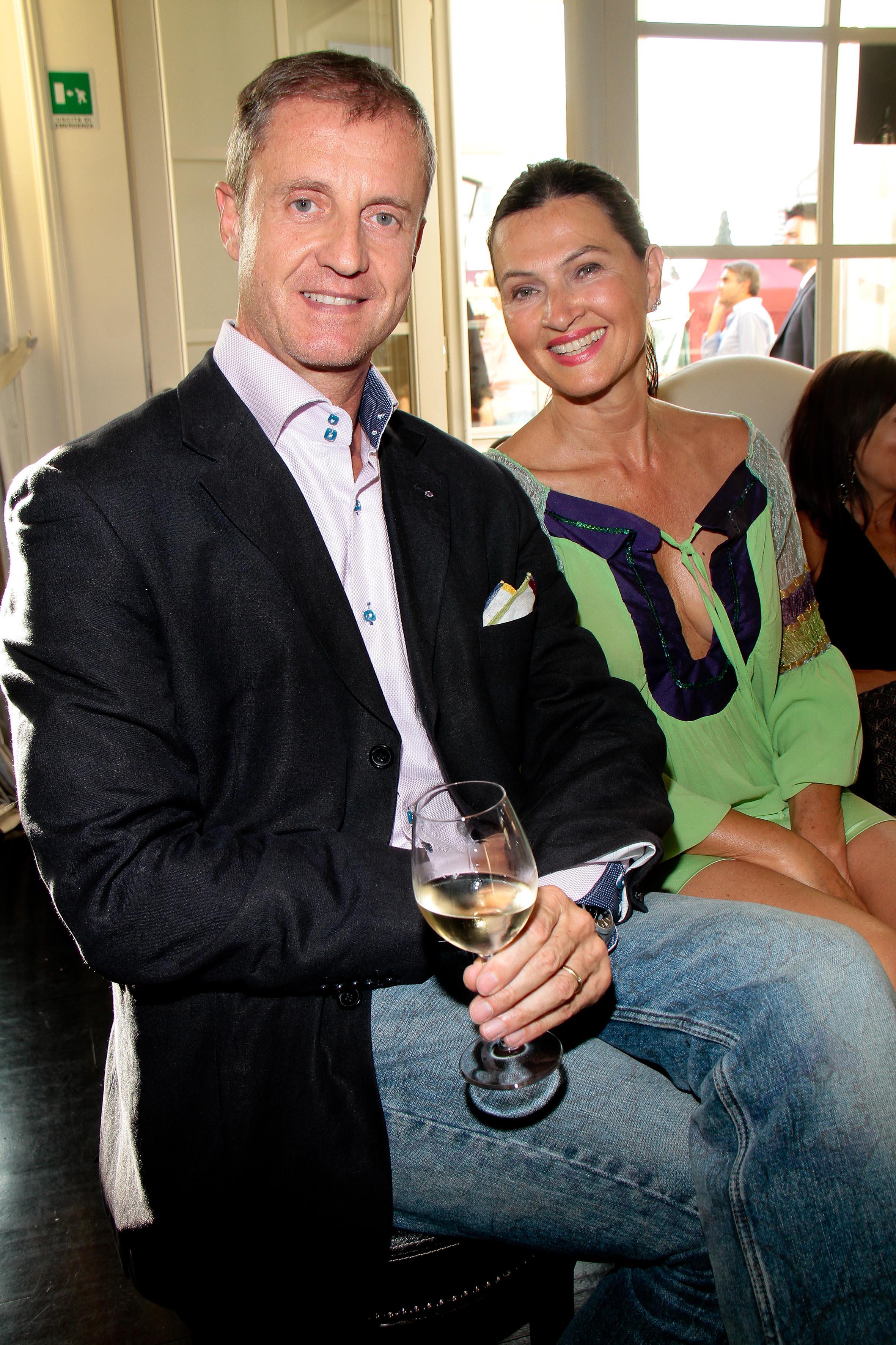 PRESSPHOTO Firenze, JK Place, Toscana Sommelier. Nella foto Eugenio Virgillito e Paola Baggiani giuseppe cabras/new press photo