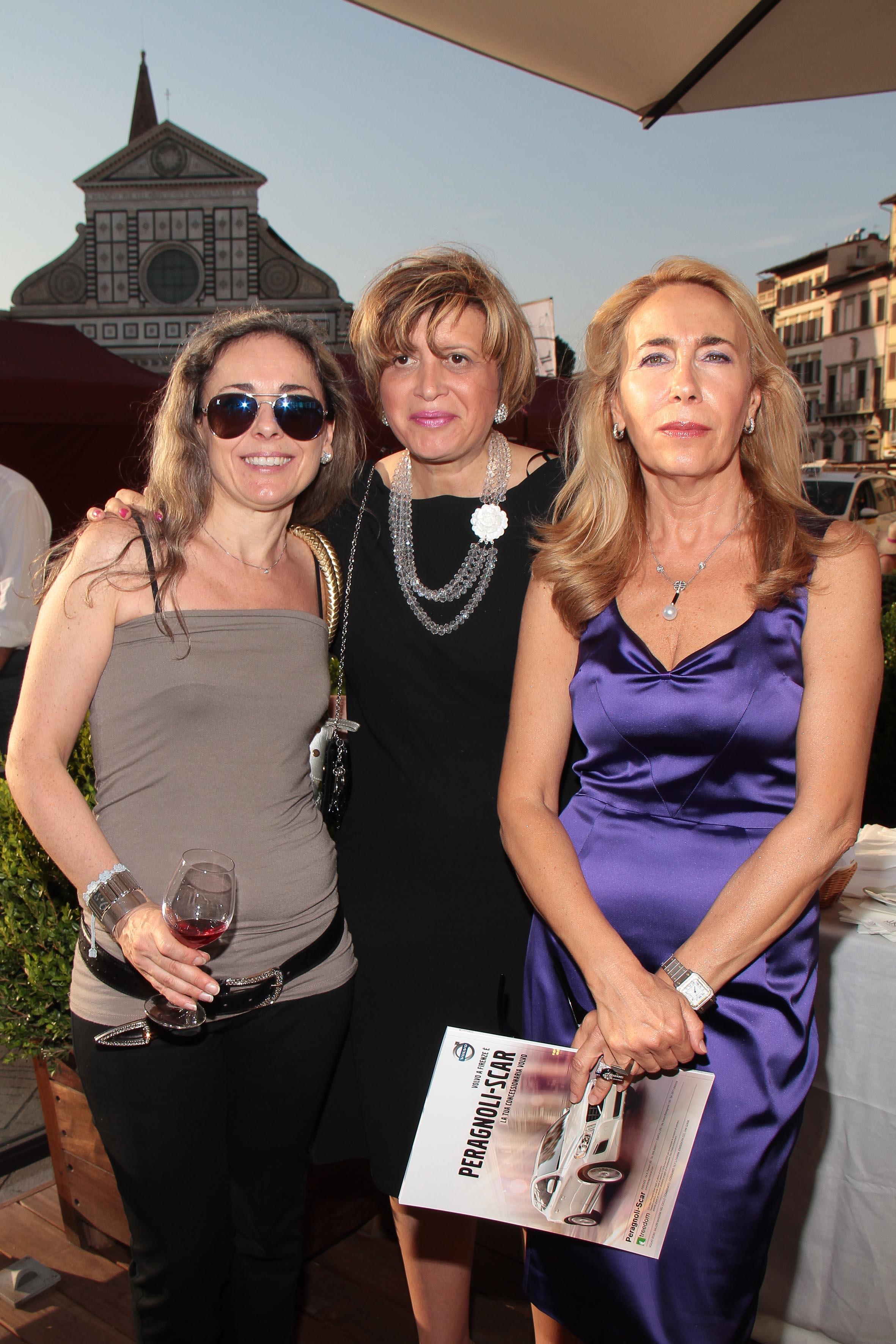 PRESSPHOTO Firenze, JK Place, Toscana Sommelier. Nella foto Serena Visi, Maria Bandini e Antonella Romani giuseppe cabras/new press photo