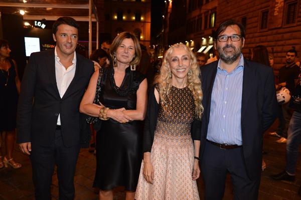 Matteo Renzi, Simonetta Consiglio, Franca Sozzani, Pier Donato Vercelloni
