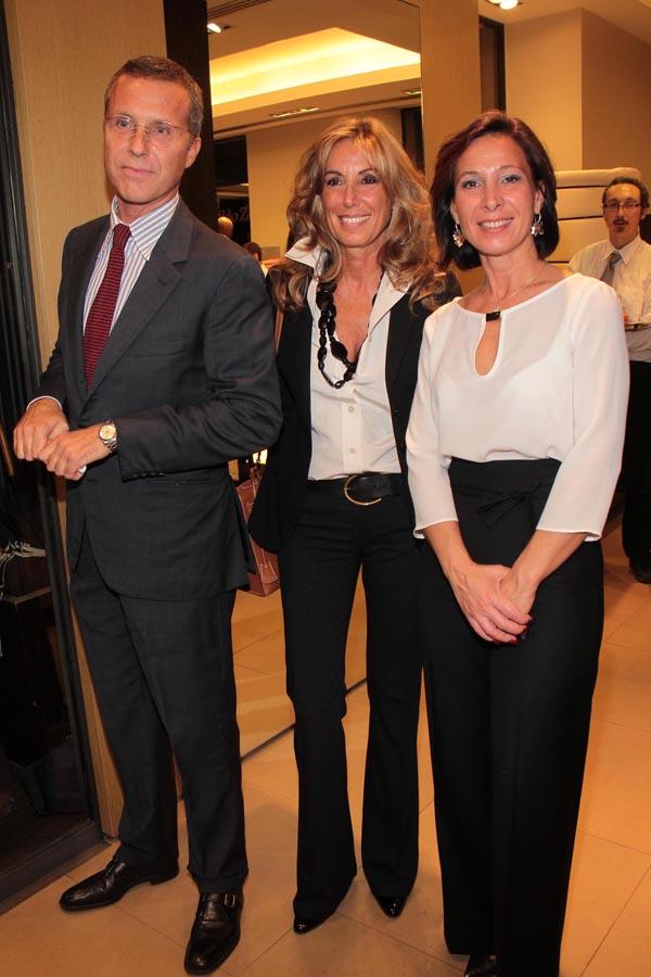 PRESSPHOTO. Firenze, Ermenegildo Zegna. Nella foto Neri Torrigiani con Ornella Pontello e Laura Basso Giuseppe Cabras/New Press Photo