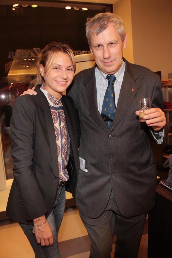 PRESSPHOTO. Firenze, Ermenegildo Zegna. Nella foto Beatrice Campani e Fabrizio Del Bimbo Giuseppe Cabras/New Press Photo