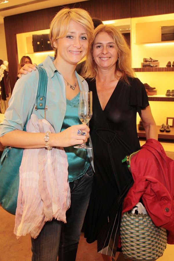 PRESSPHOTO. Firenze, Ermenegildo Zegna. Nella foto Sandra Salvato e Moreschina Fabbricotti Giuseppe Cabras/New Press Photo